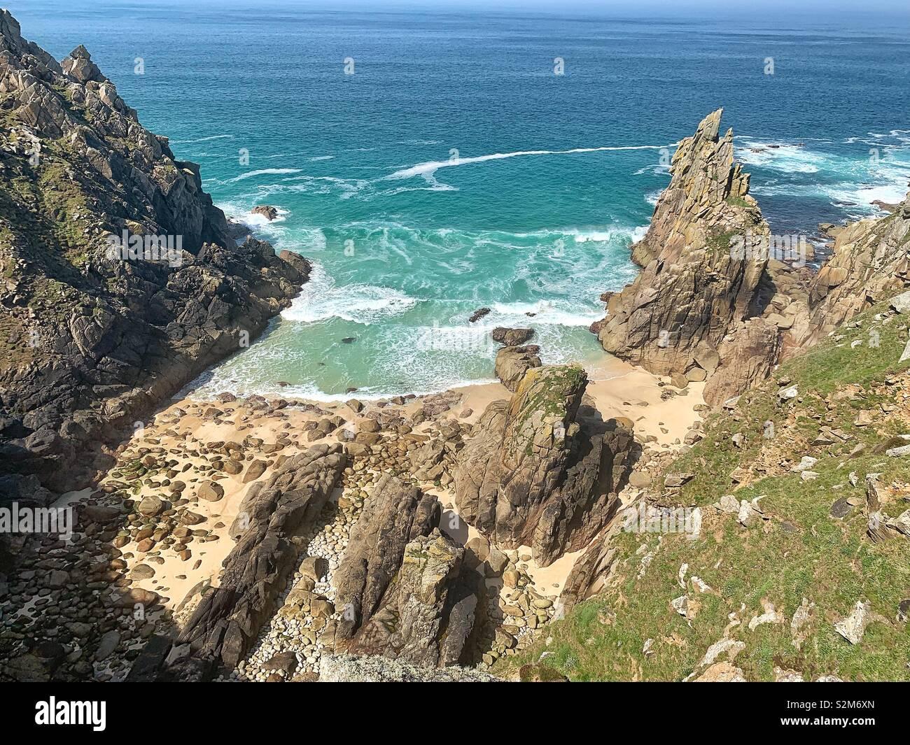 Cornwall secret beach Stock Photo