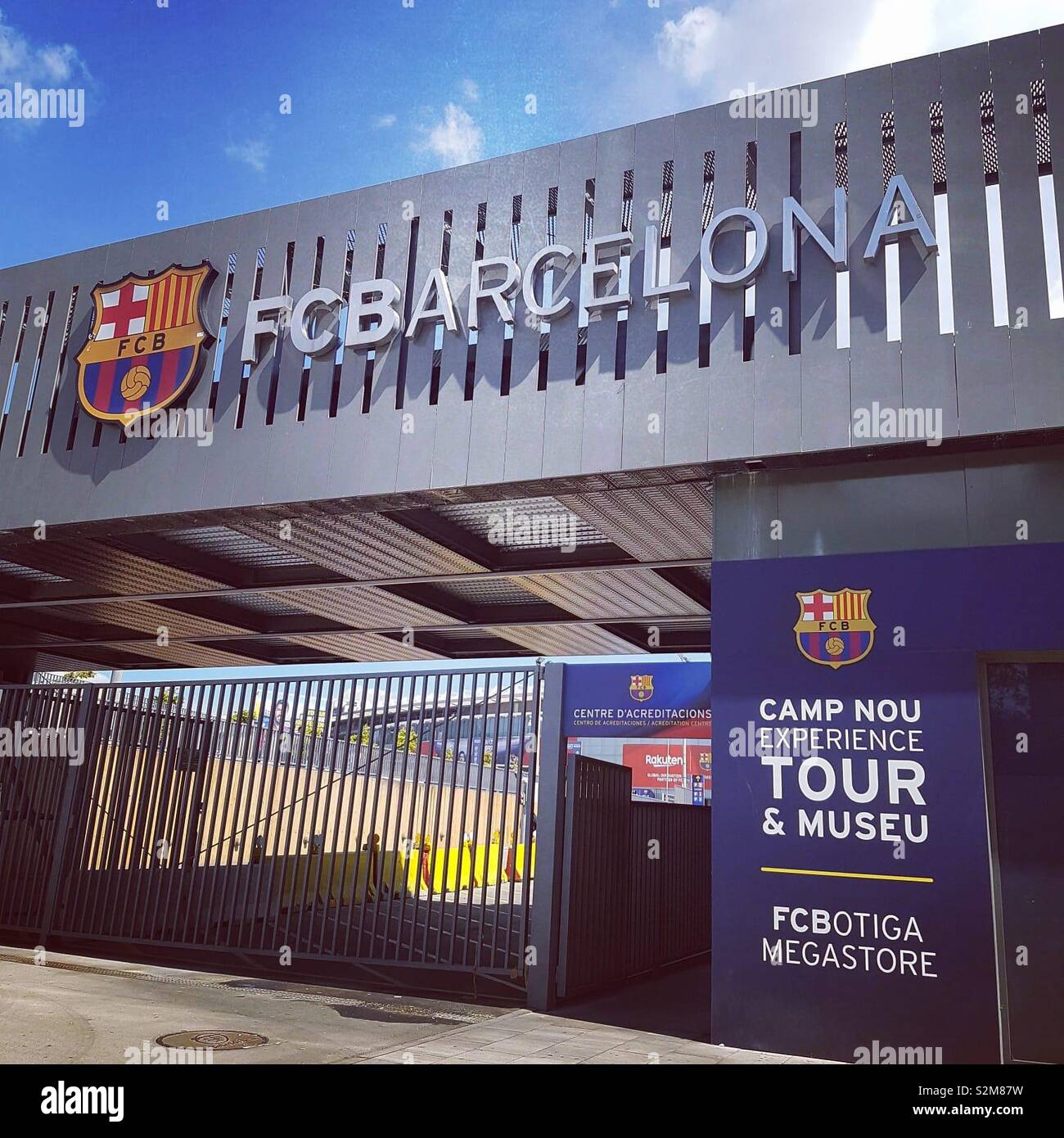 One of the entrances to the Nou Camp, home of Barcelona FC - Stock Image