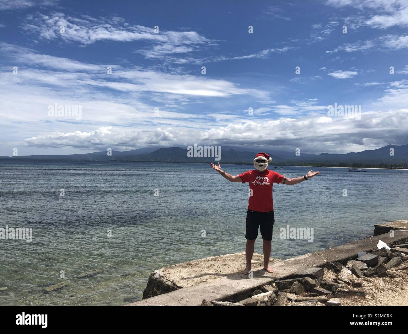 Christmas in Gili Air - Stock Image