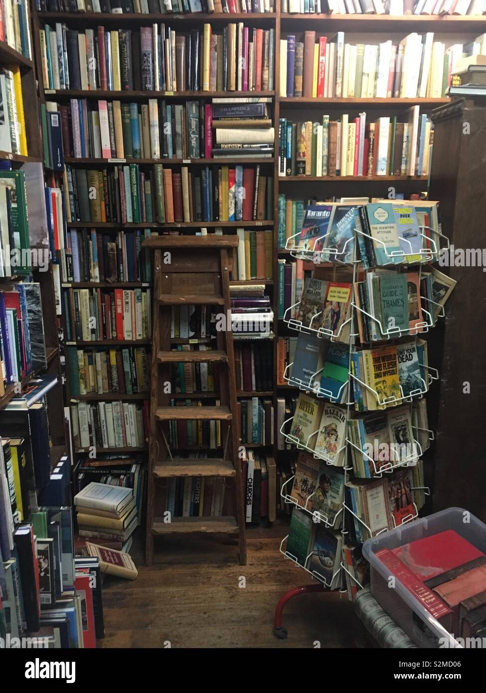 Interior of an old bookshop. - Stock Image