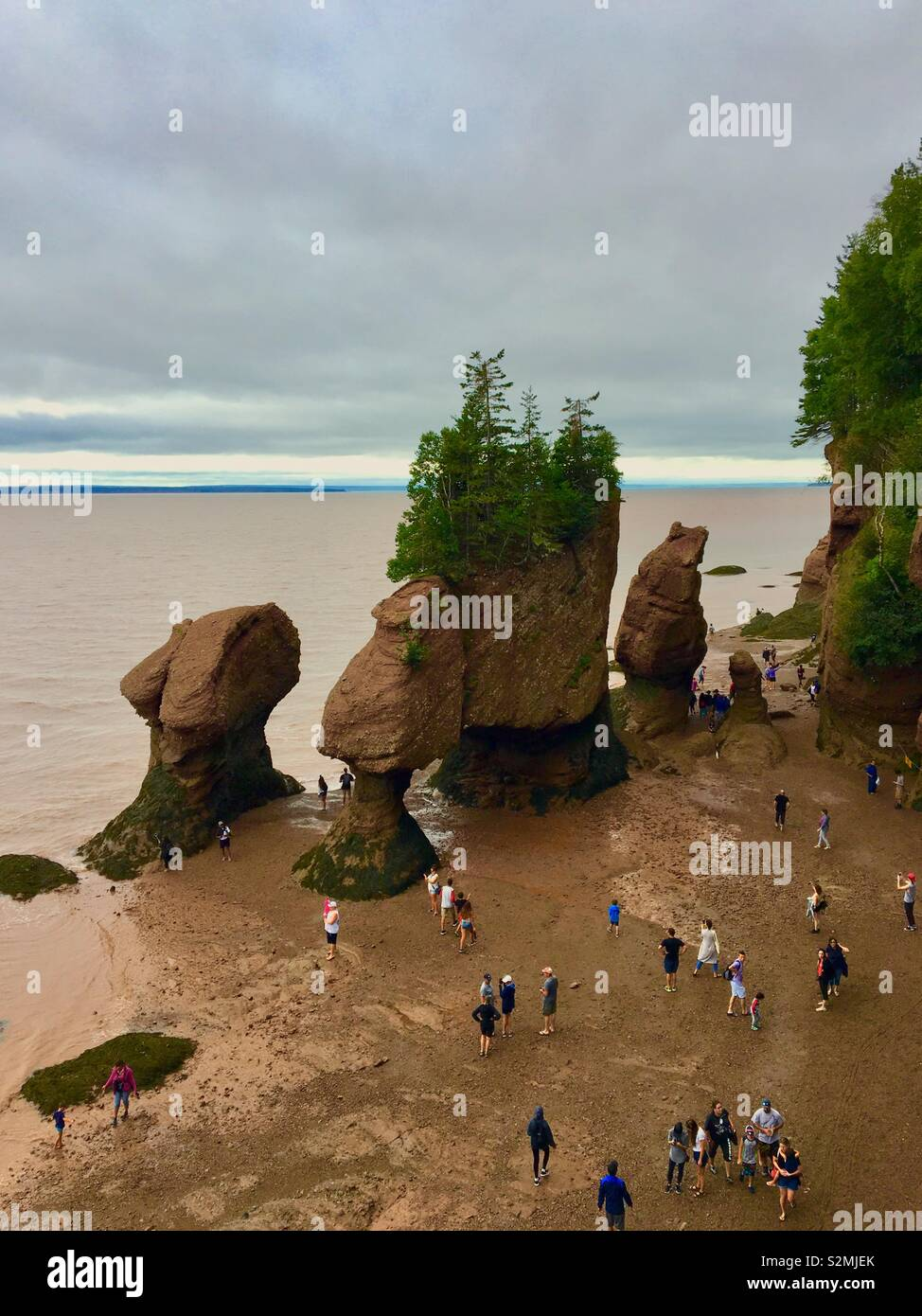 Hopewell Rocks in New Brunswick Canada Stock Photo