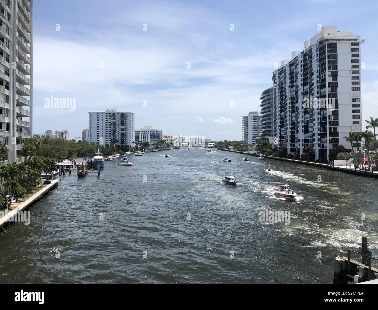 Inter coastal water way - Ft Lauderdale - Stock Image