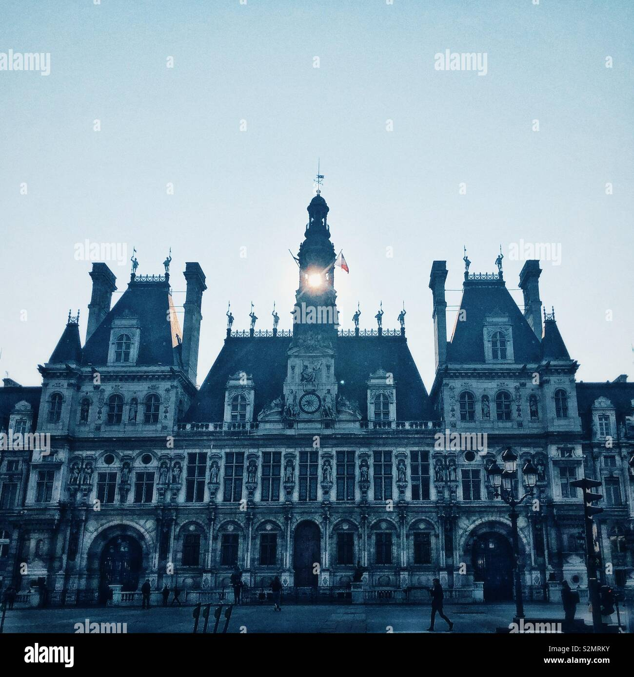 Infamous Hotel de Ville in Paris - Stock Image