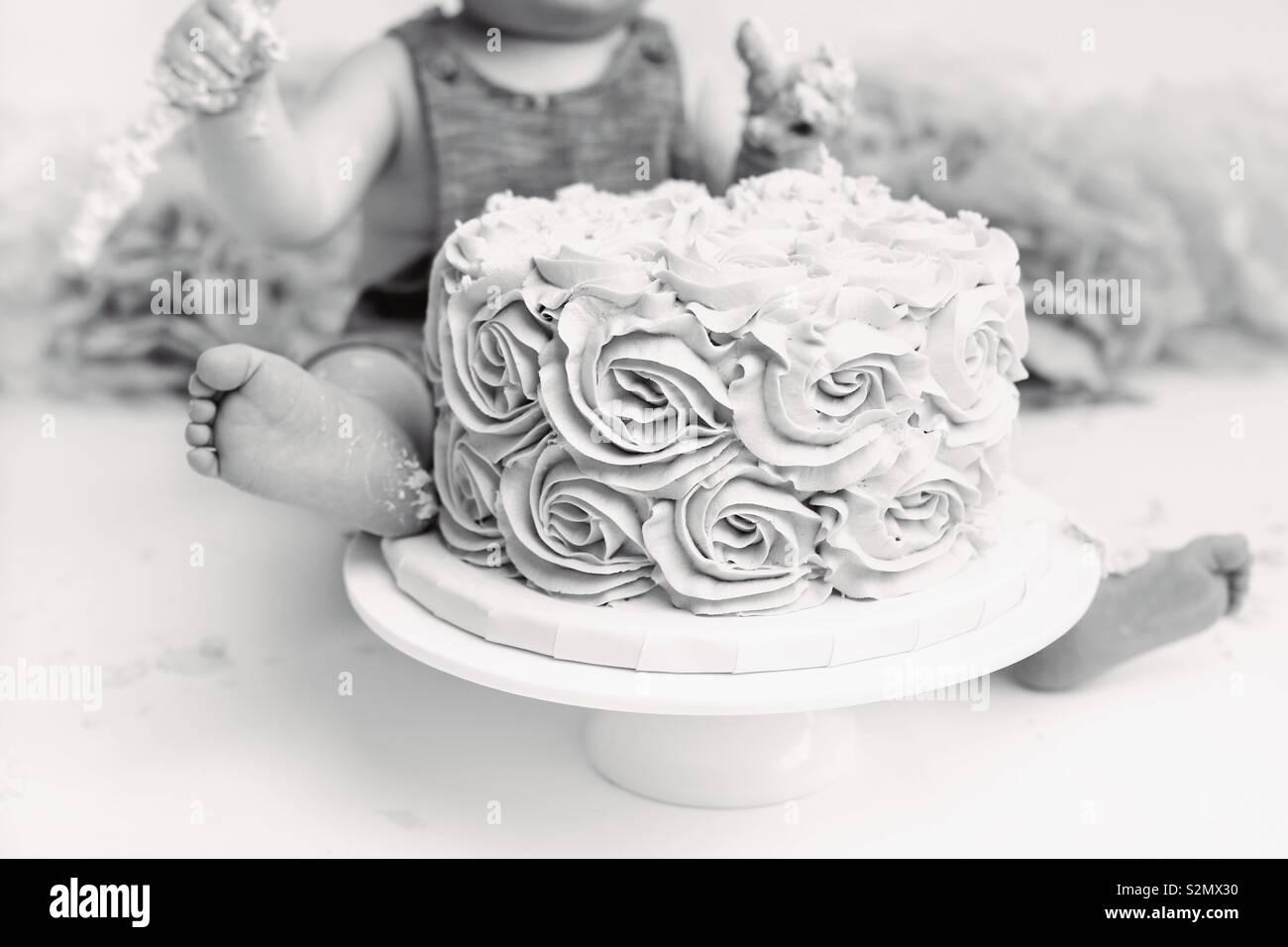 Birthday Cake - Stock Image