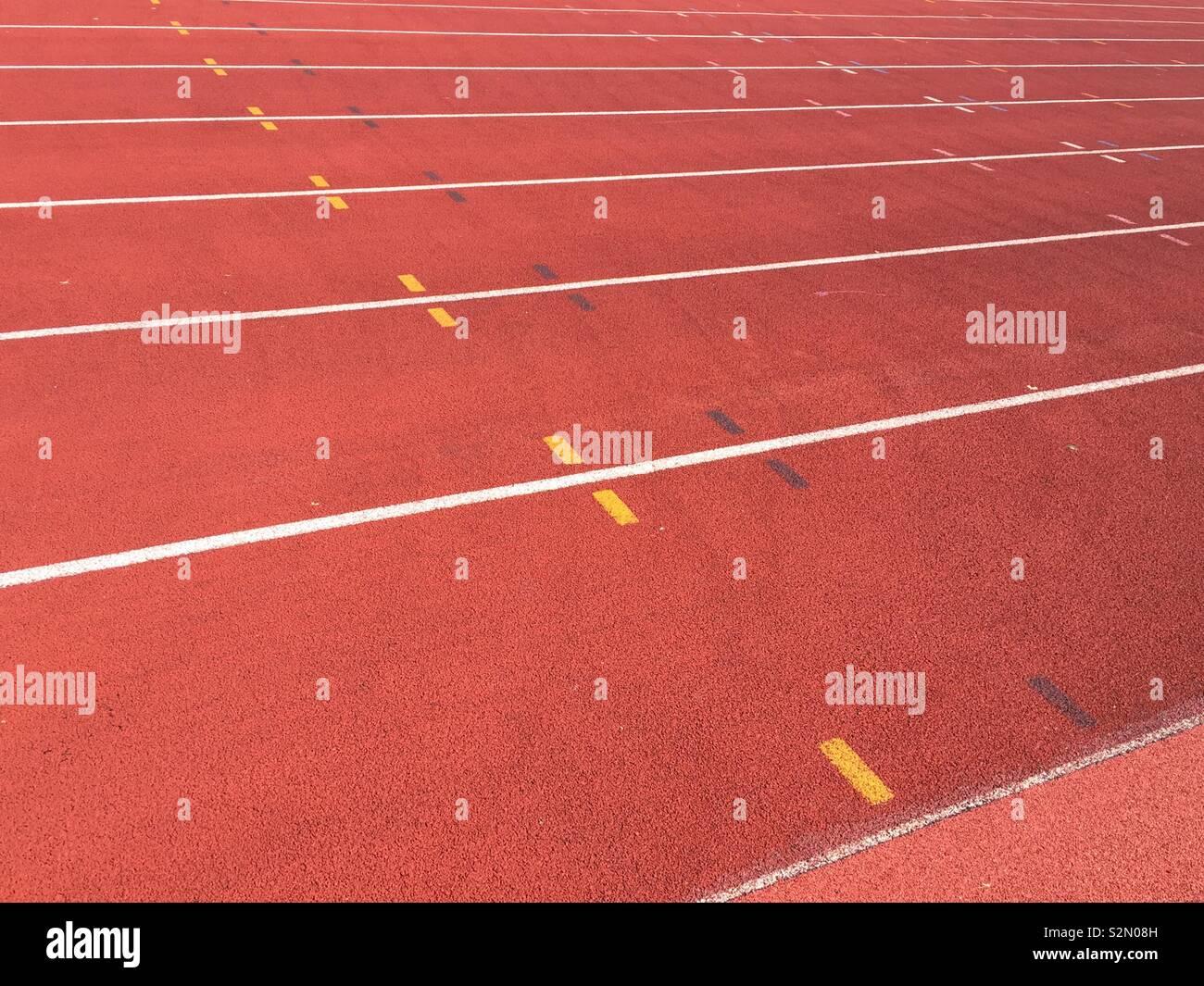 Sports athletics track - Stock Image