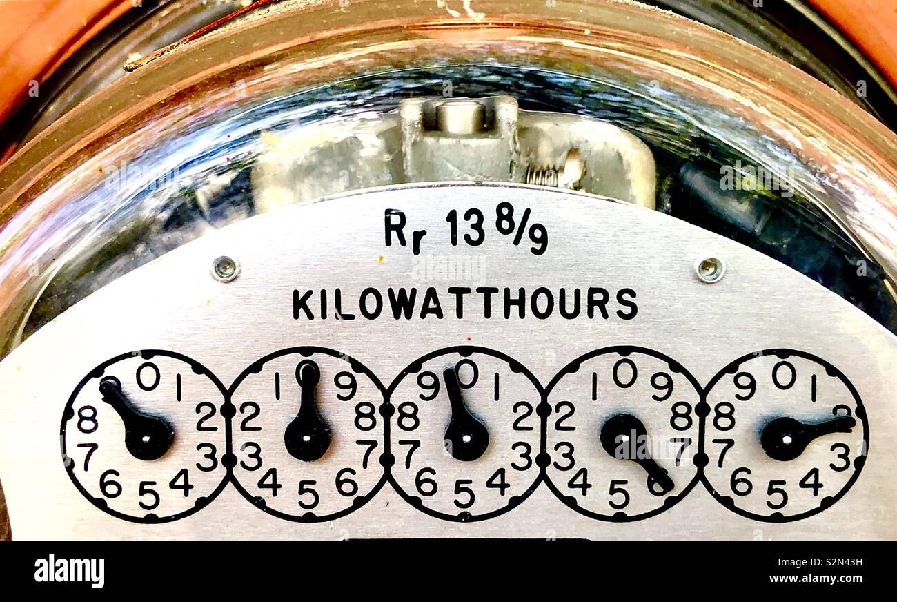 Kilowatt hour electric meter - Stock Image