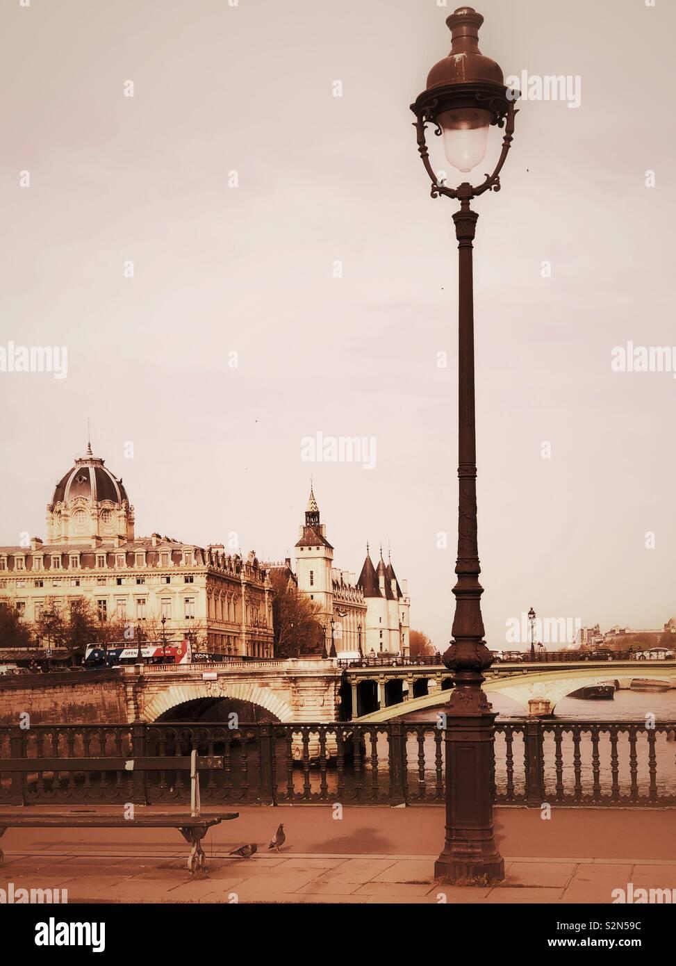 Timeless view of Paris - Stock Image
