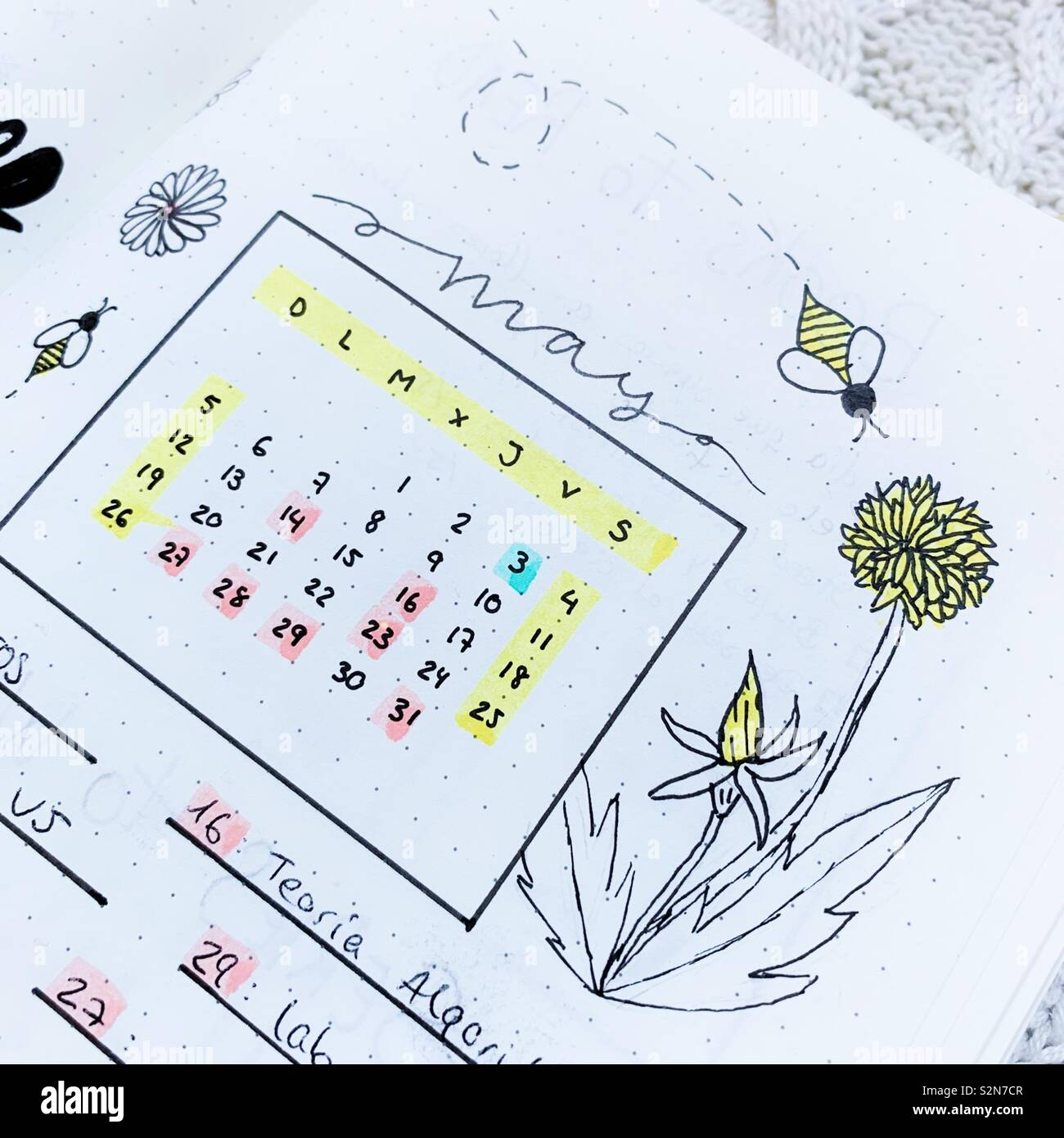 Calendrier 2019 Bullet Journal.May Calendar Bullet Journal Stock Photo 311482775 Alamy