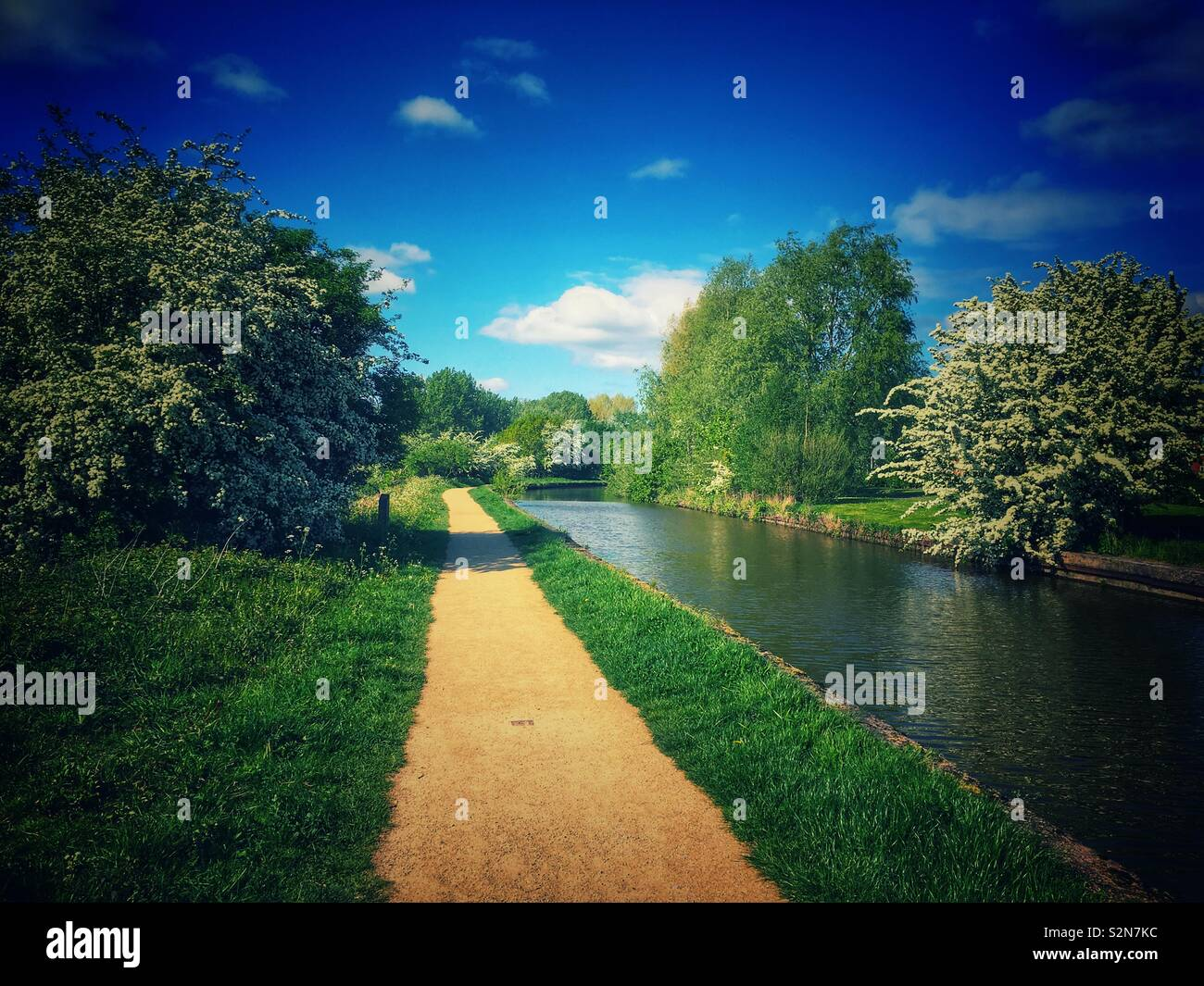 Trent and Mersey canal in Cheshire Uk - Stock Image