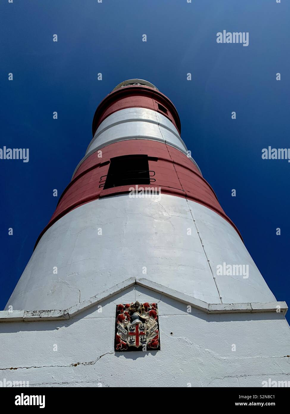 Orfordness lighthouse in a summer sky - Stock Image