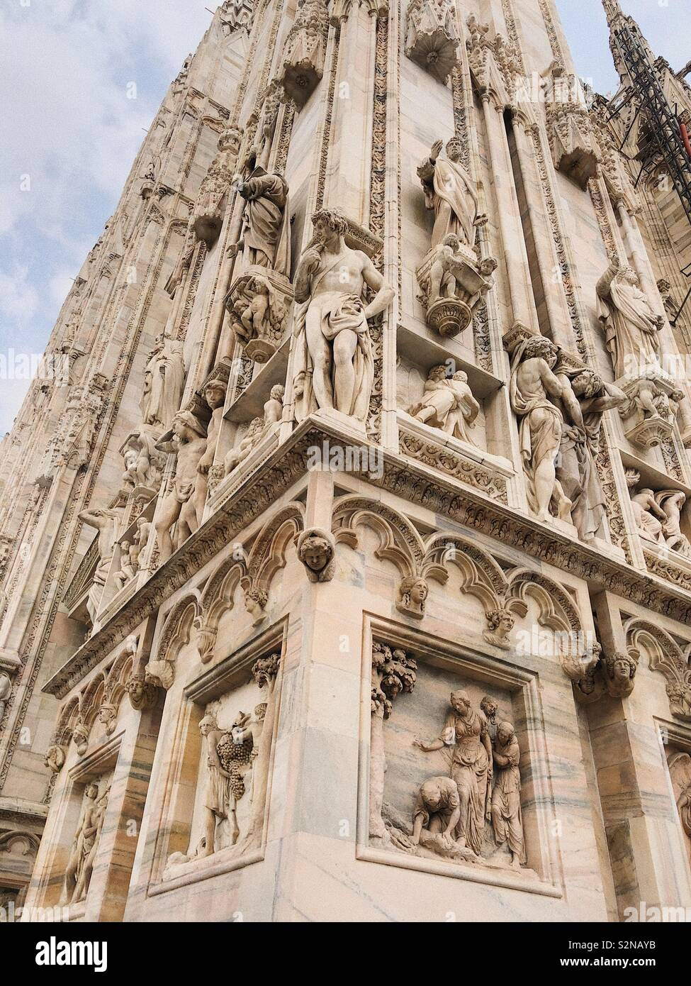 DUOMO DE MILANO - the details of the most detailed monument - Stock Image