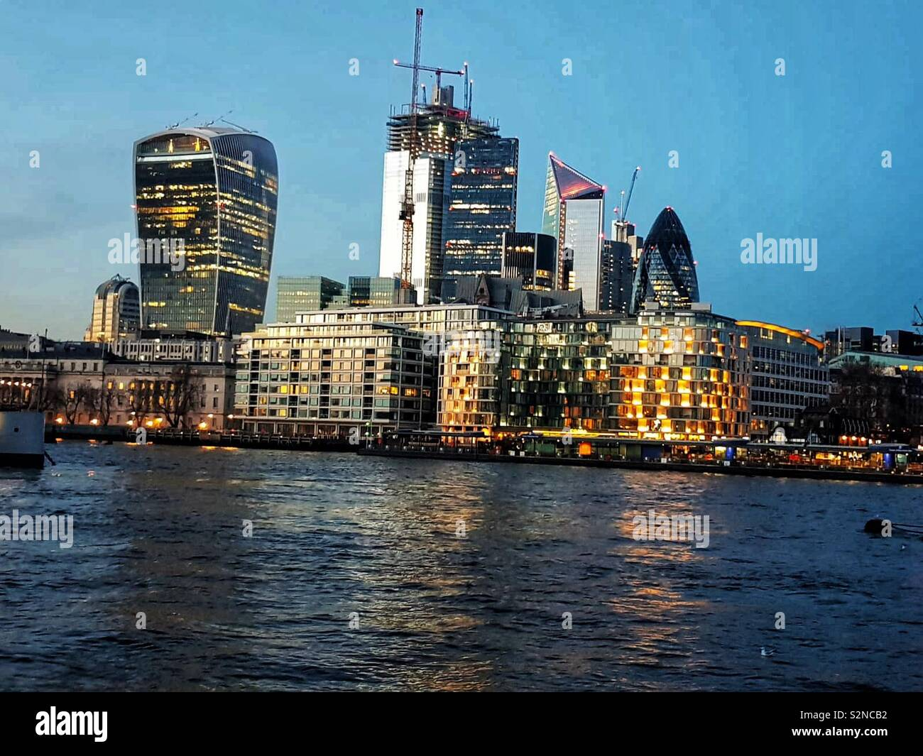 London, Thames River Stock Photo