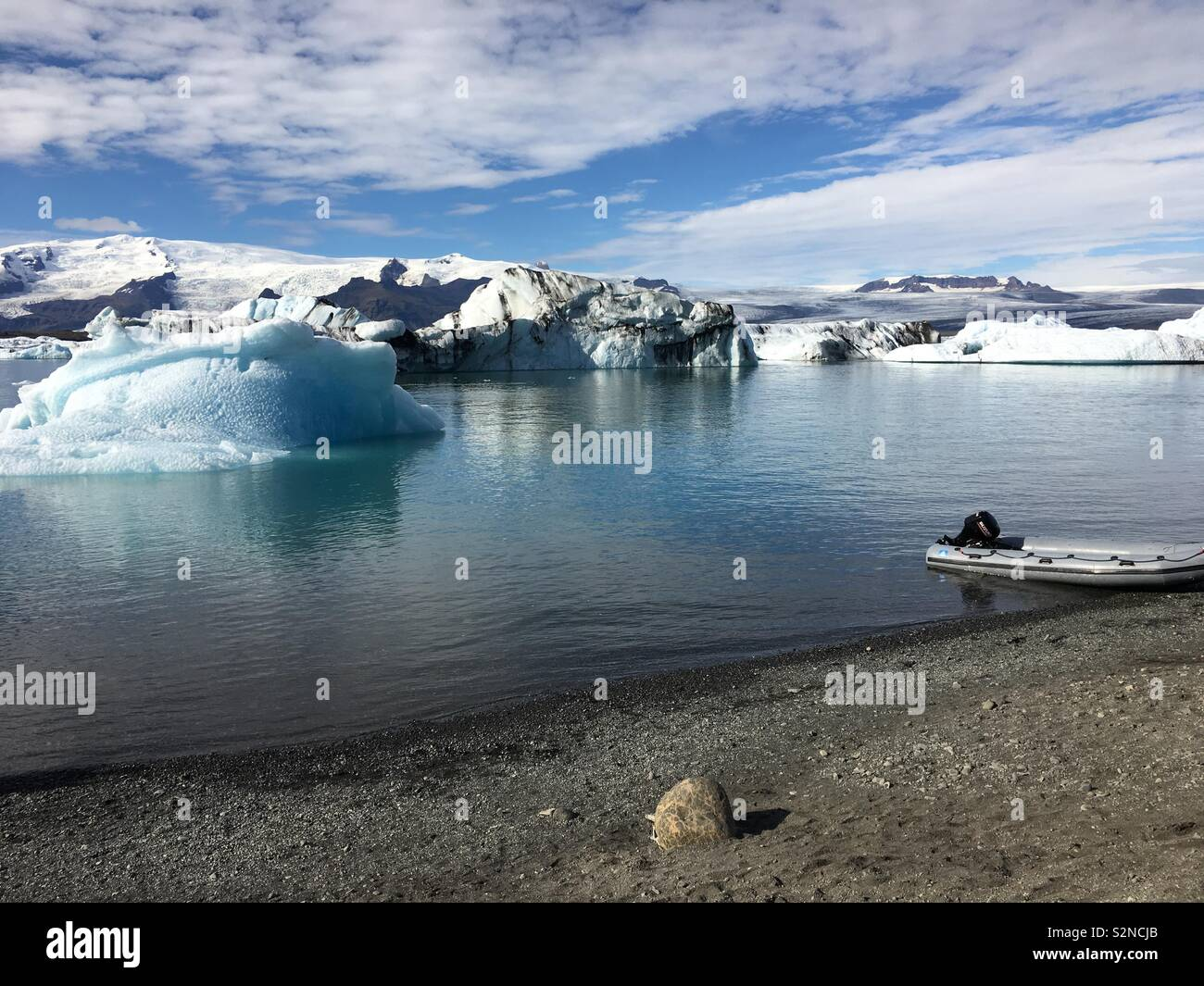 Melting glaciers - Stock Image