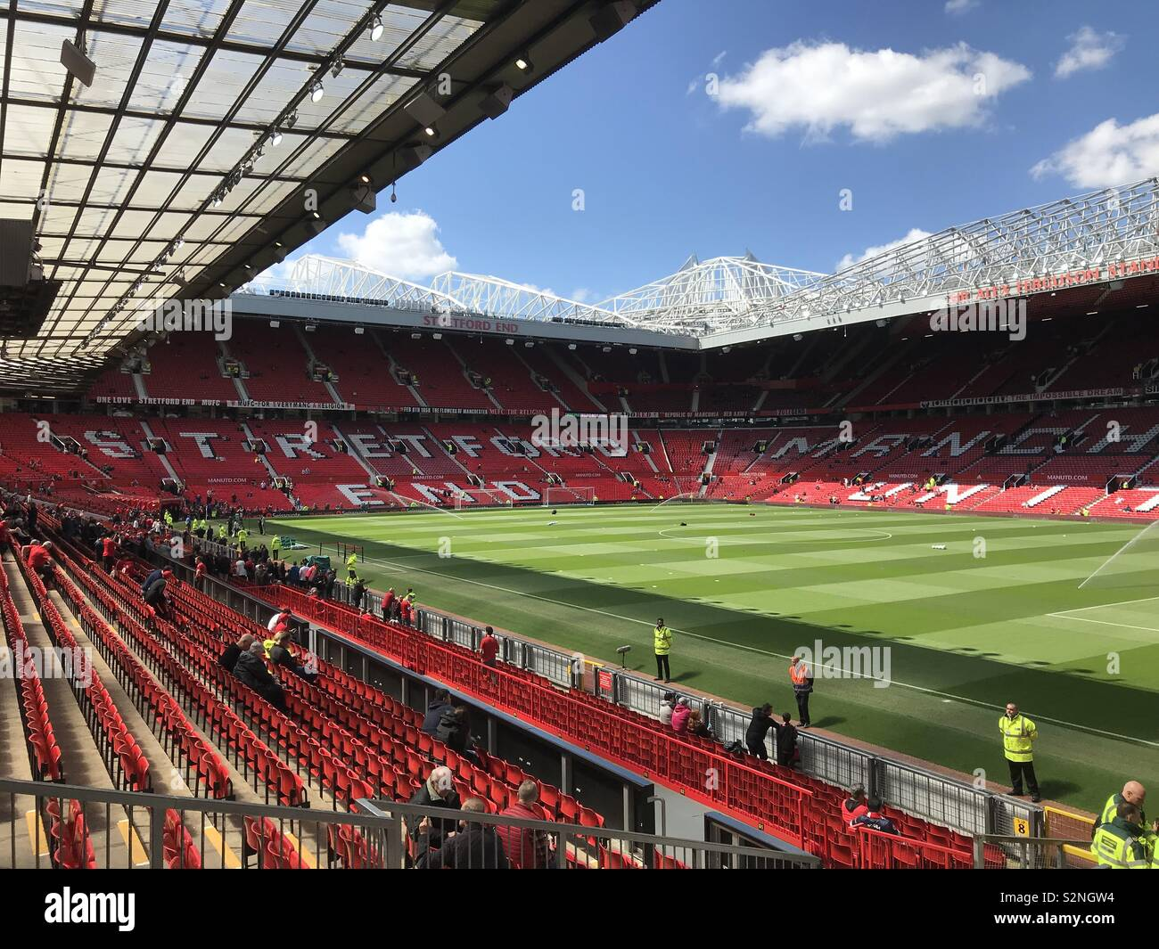 Stretford End Old Trafford - Stock Image