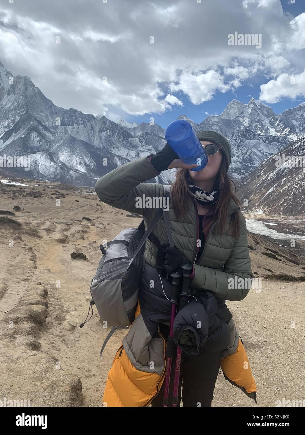 Everest base camp trek - Stock Image
