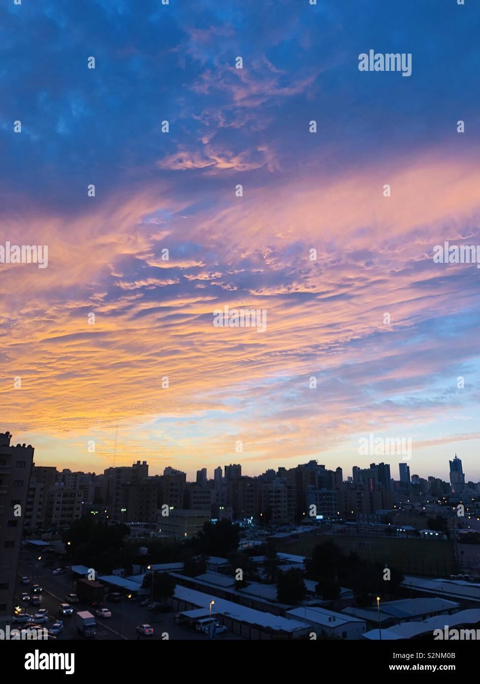 Sunset in Kuwait - Stock Image
