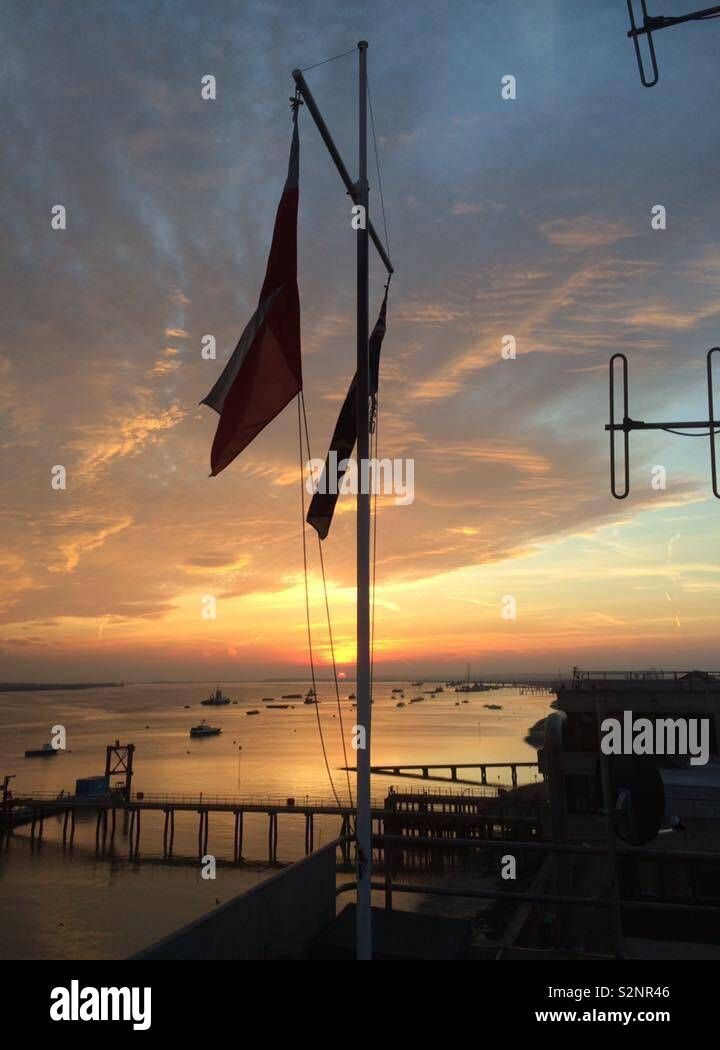Sunrise over gravesend - Stock Image