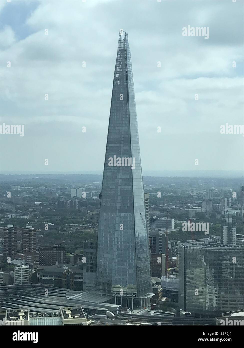 Colour photo of The Shard London - Stock Image