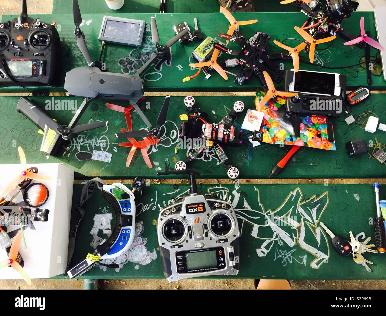 Drone stuff at the park - Stock Image