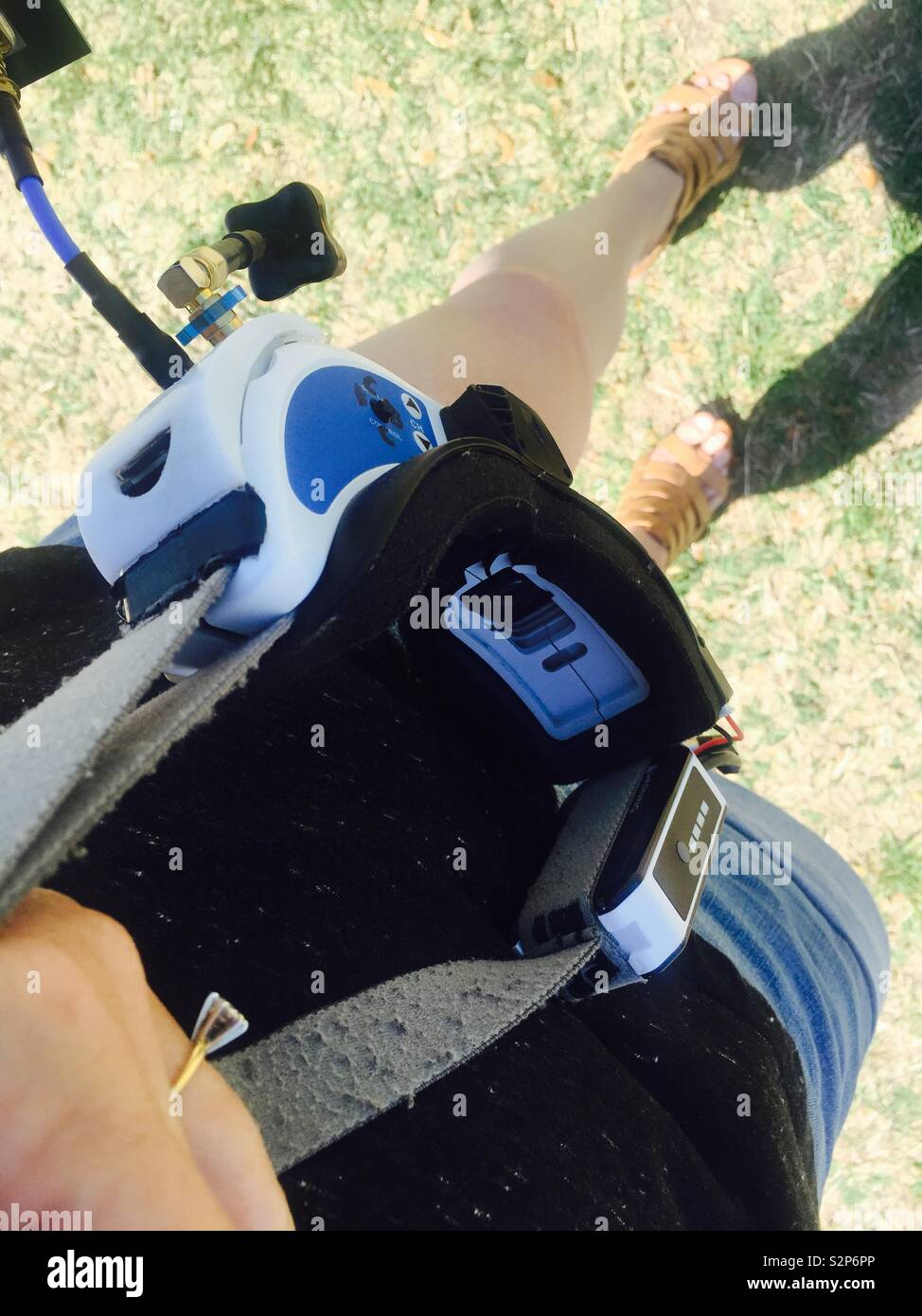 Flying Fpv with my goggles - Stock Image