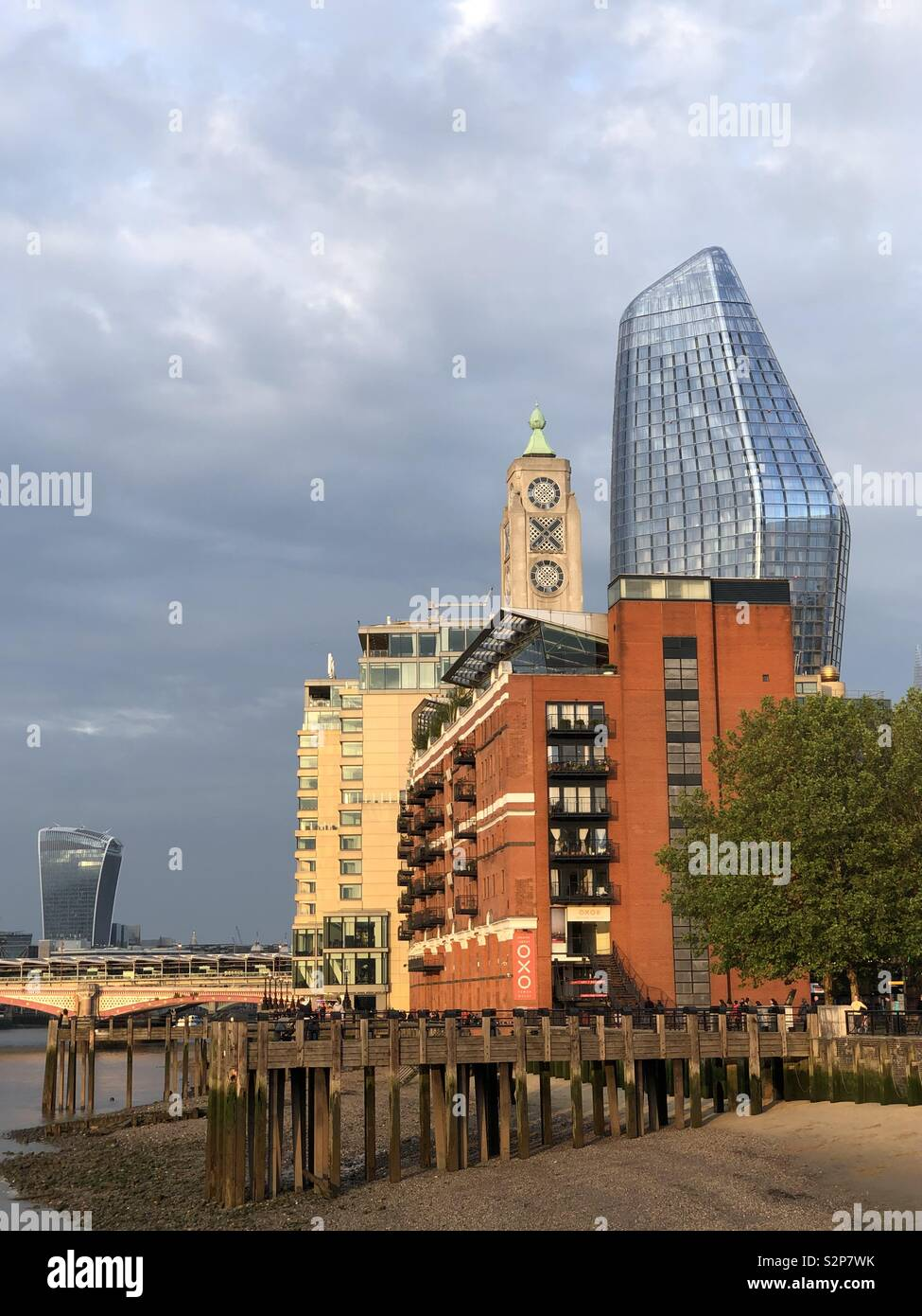 Oxo Tower, Southbank, London, UK - Stock Image