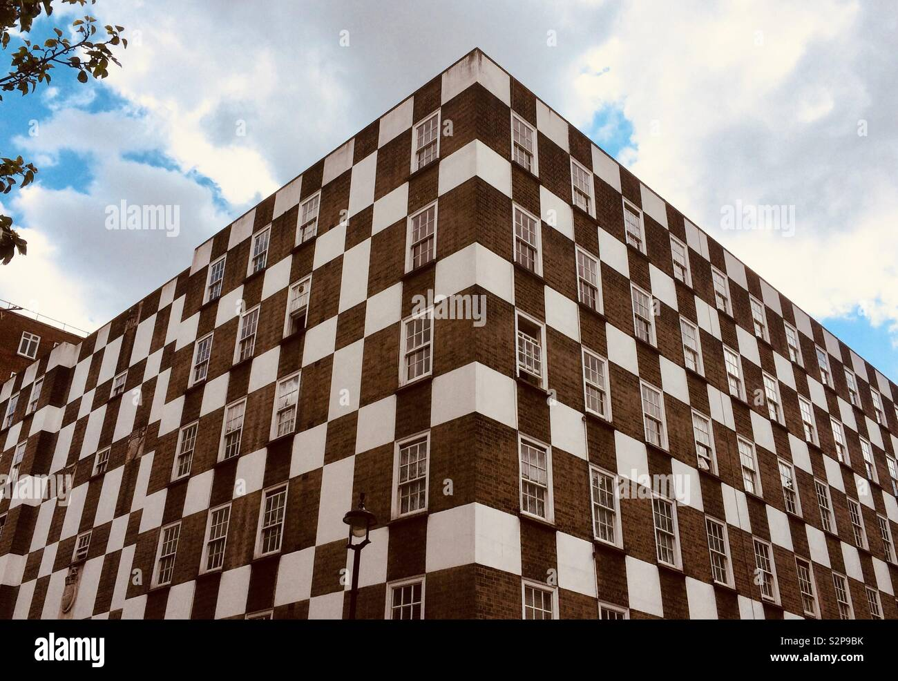 Chequer-Board apartments in Pimlico, London. - Stock Image