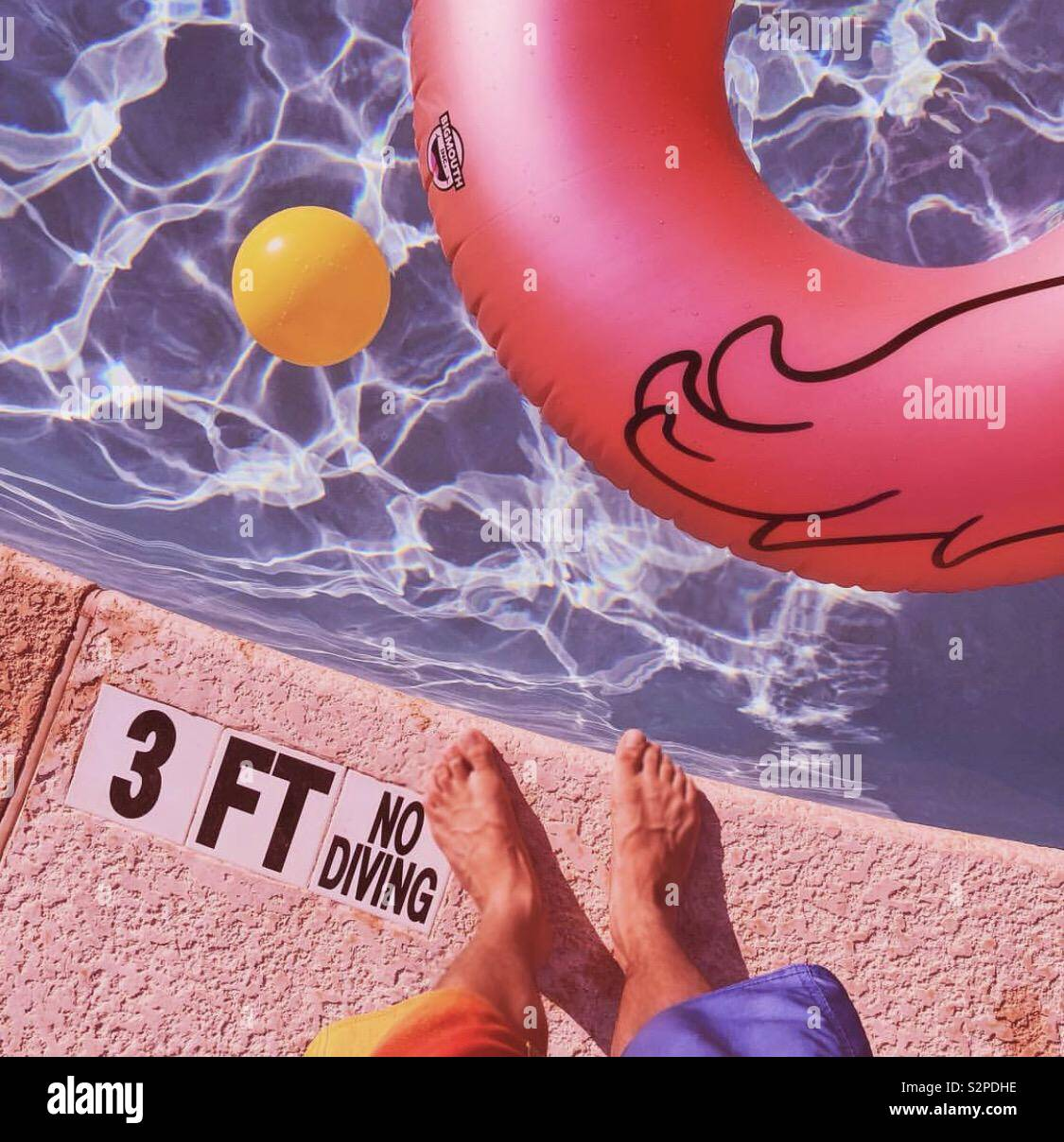 Pool Day Stock Photo
