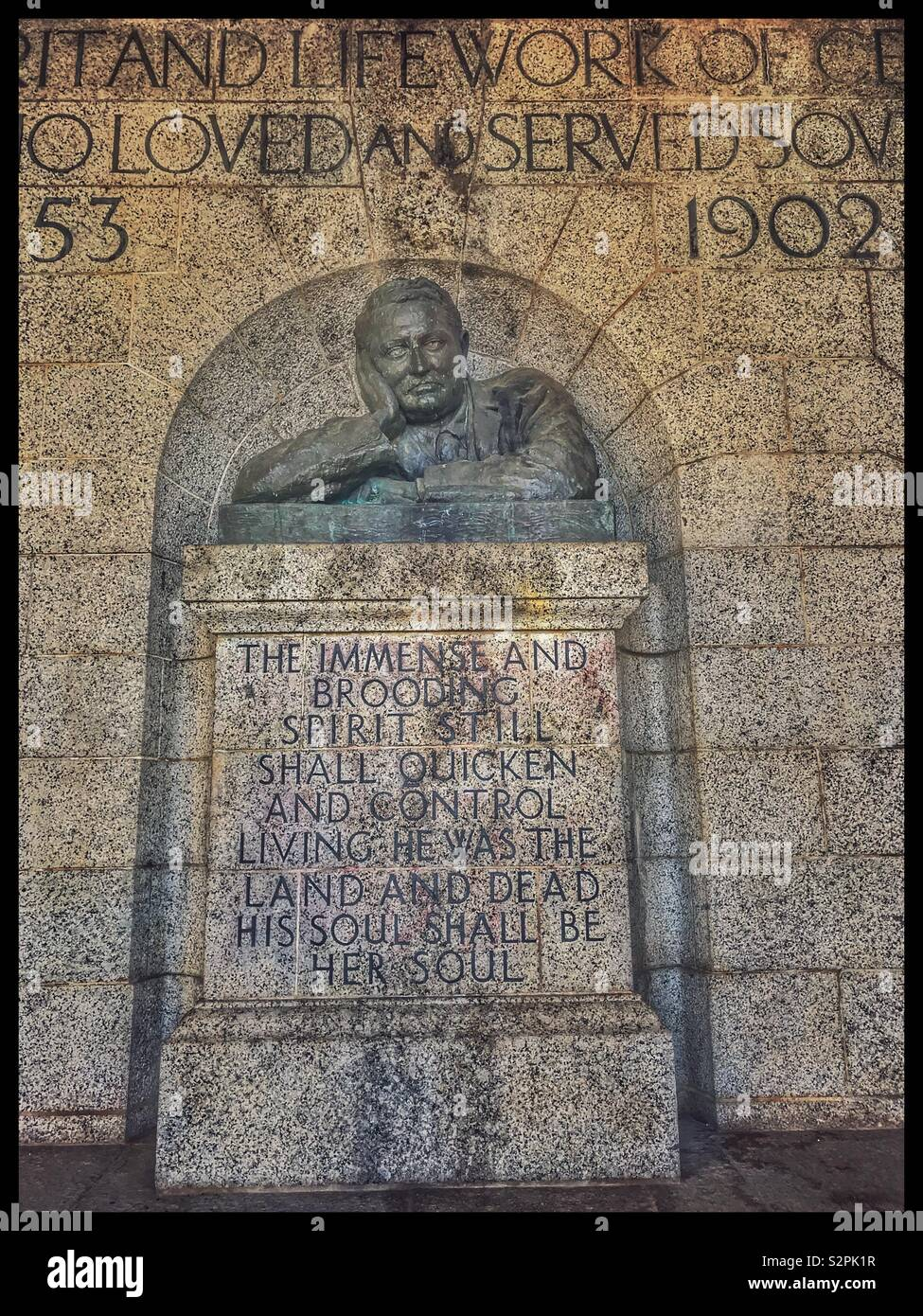 Rhodes Memorial, Cape Town, South Africa. - Stock Image