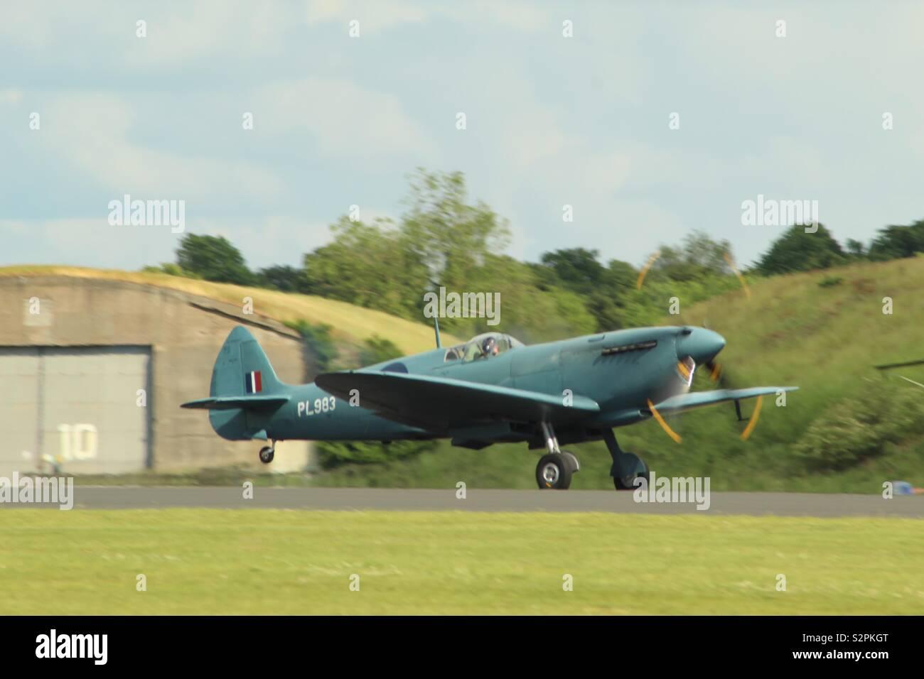 Vickers-Supermarine Spitfire PR.XI, G-PRXI (PL983) - Stock Image