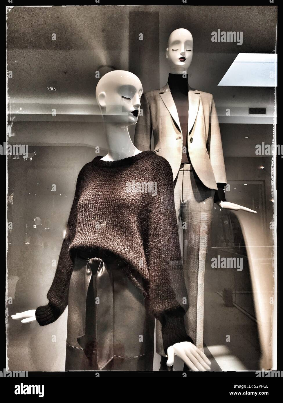 Mannequins in shop window at Zara, Cape Town, South Africa