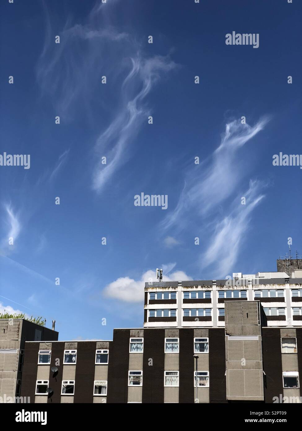 Angels leaving hospital. - Stock Image