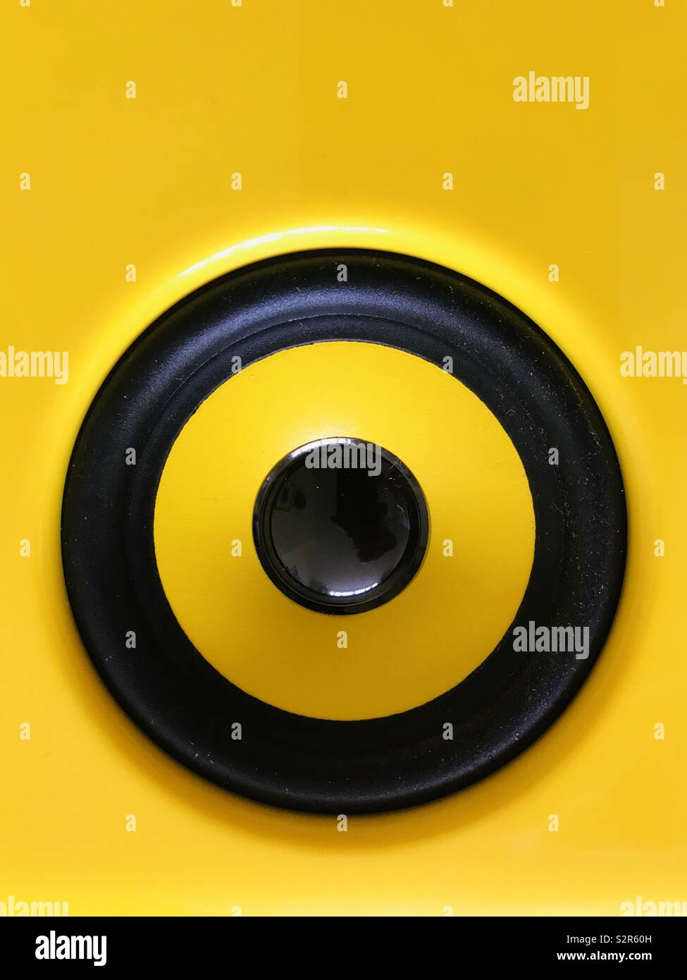 Speaker close up for extra loud music - Stock Image