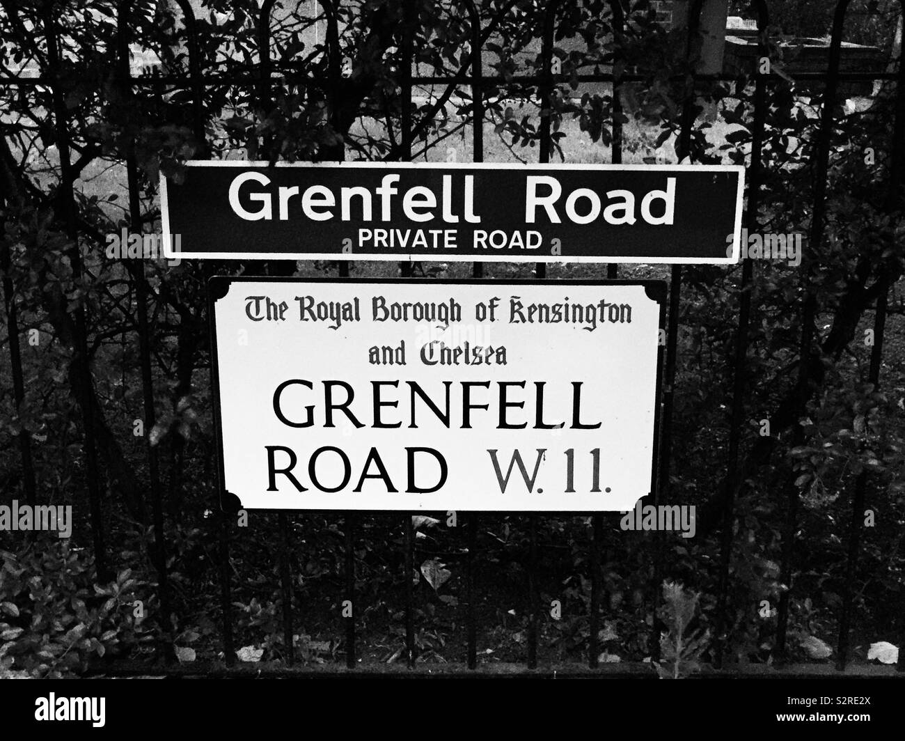 Grenfell Road, Kensington and Chelsea, London, where so many lost their lives Stock Photo