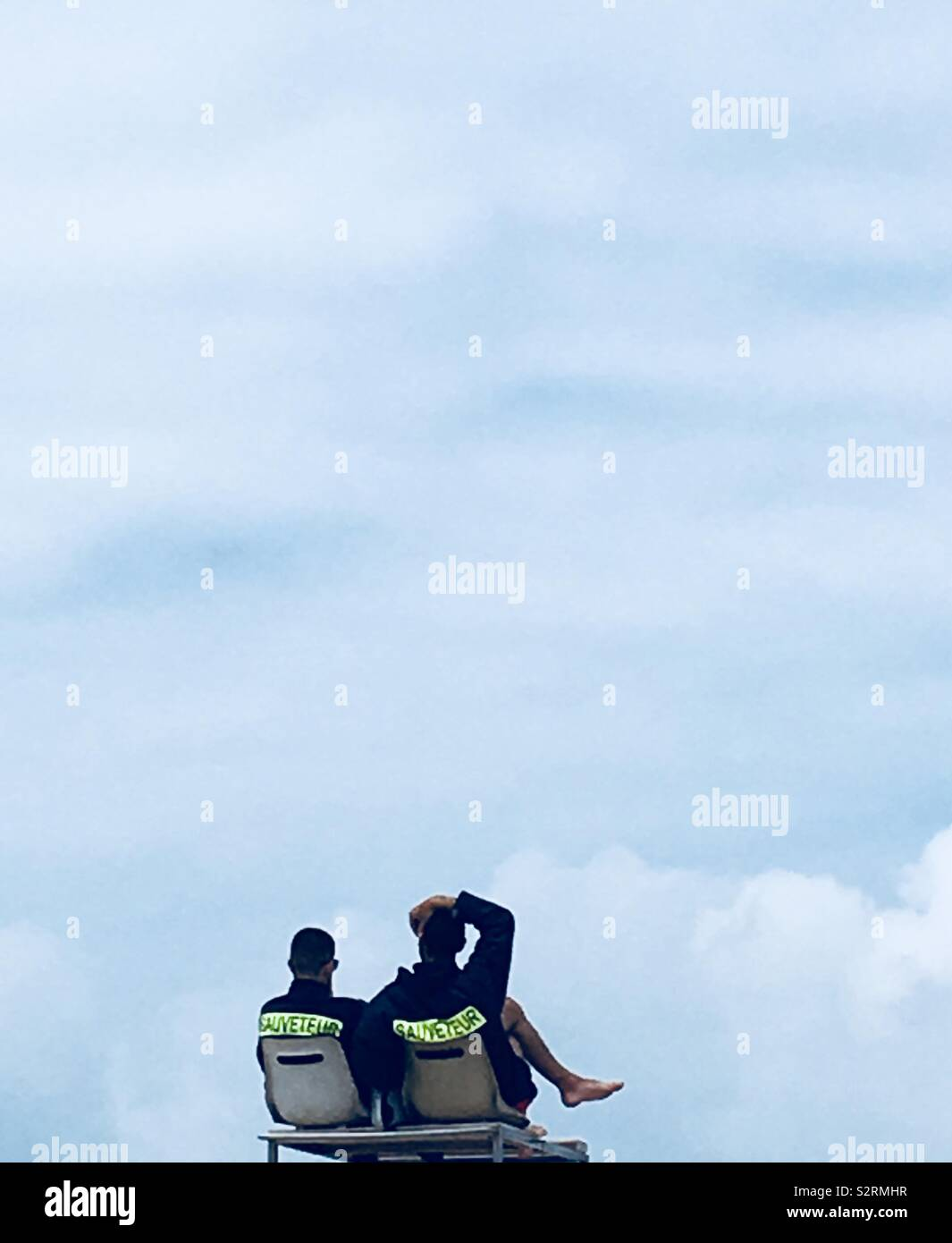 Cloud rescuers - Stock Image