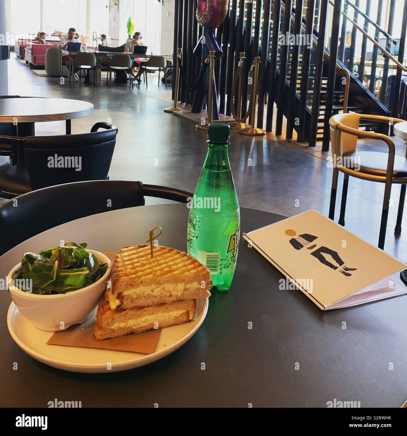 Lunch at the Hotel Indigo Lower East Side, New York City - Stock Image