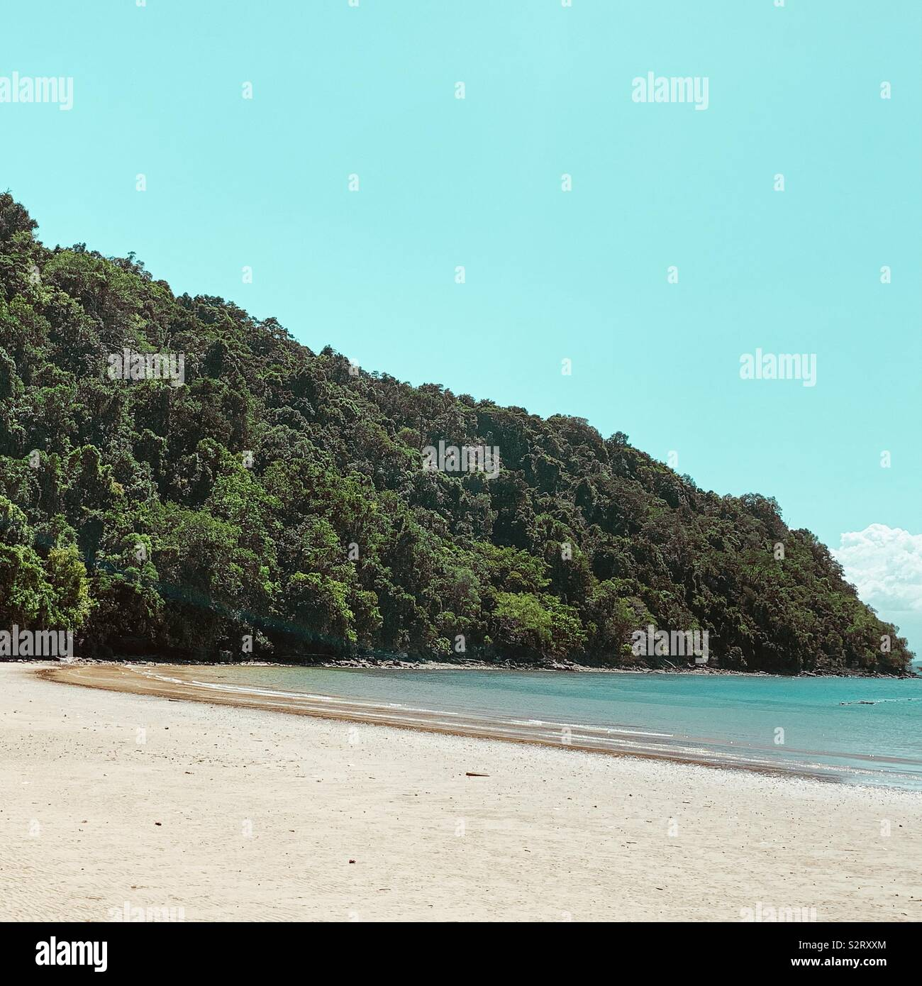 Tropical Island beach in Kota Kinabalu - Stock Image