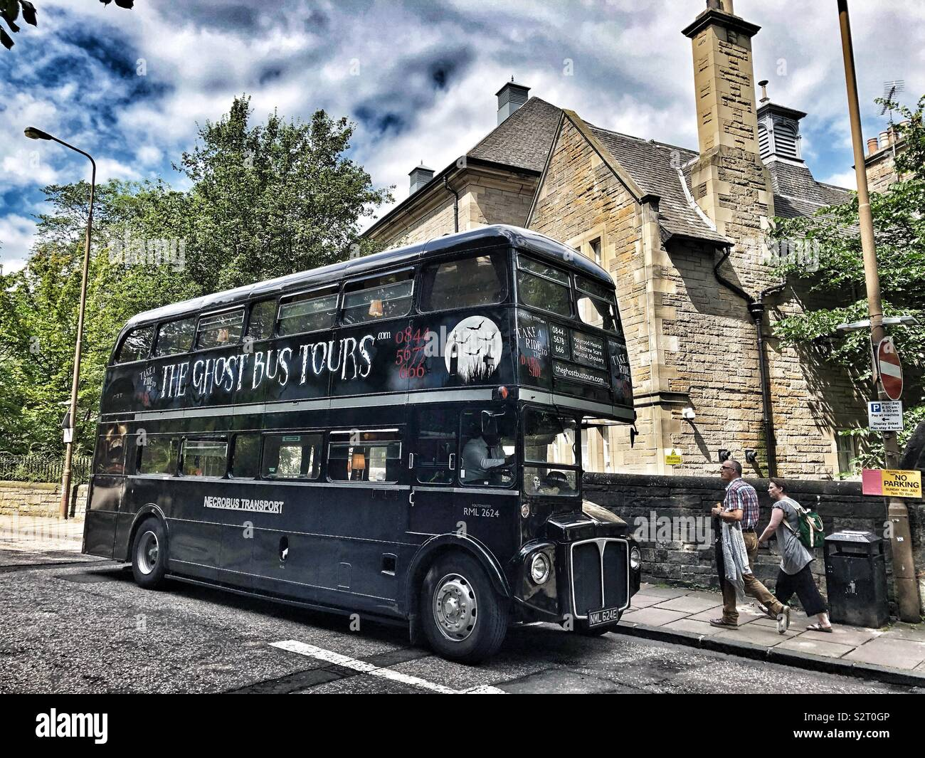 Ghost bus tours Stock Photo