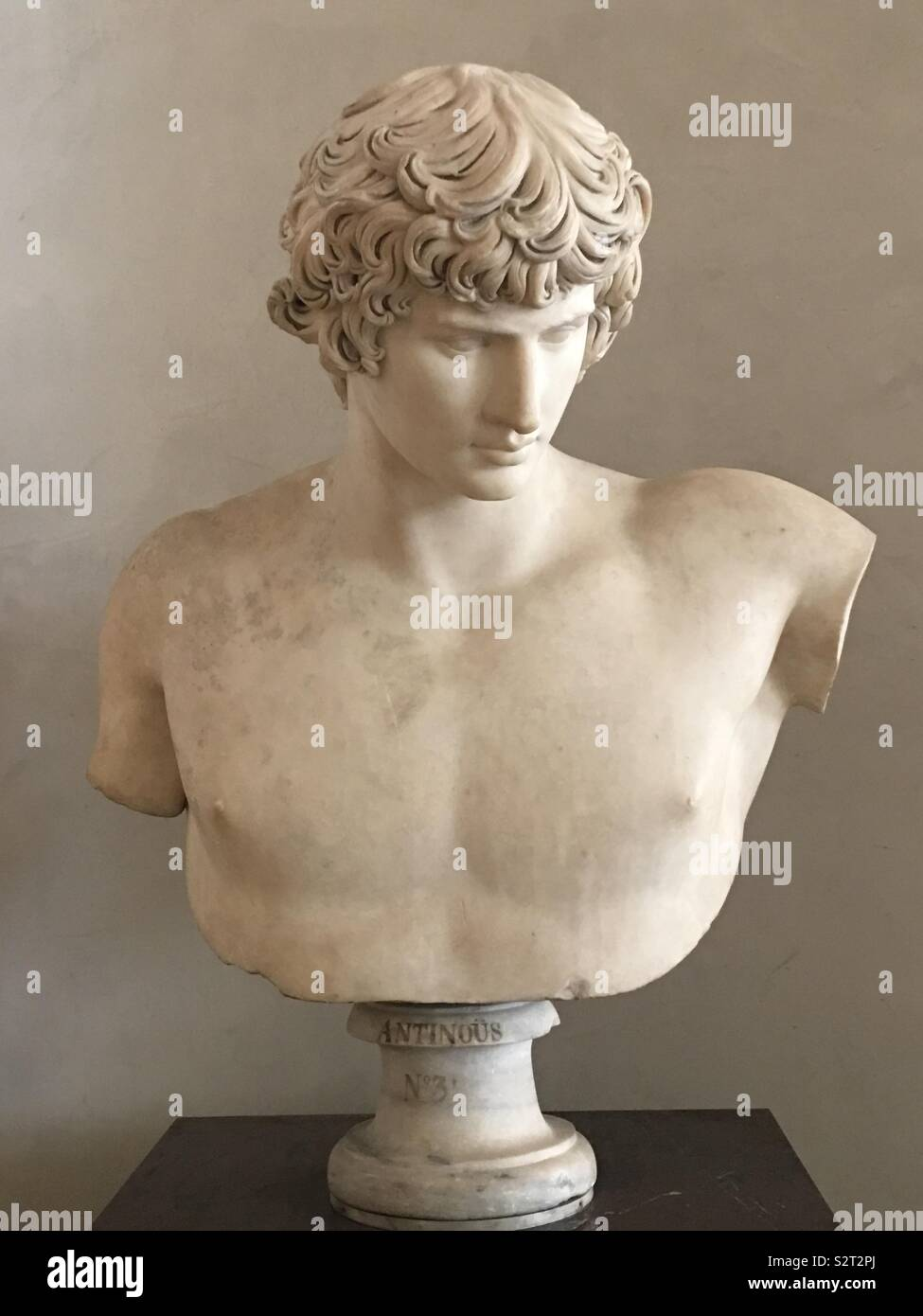Antinous Mondragone, Louvre, Paris - Stock Image