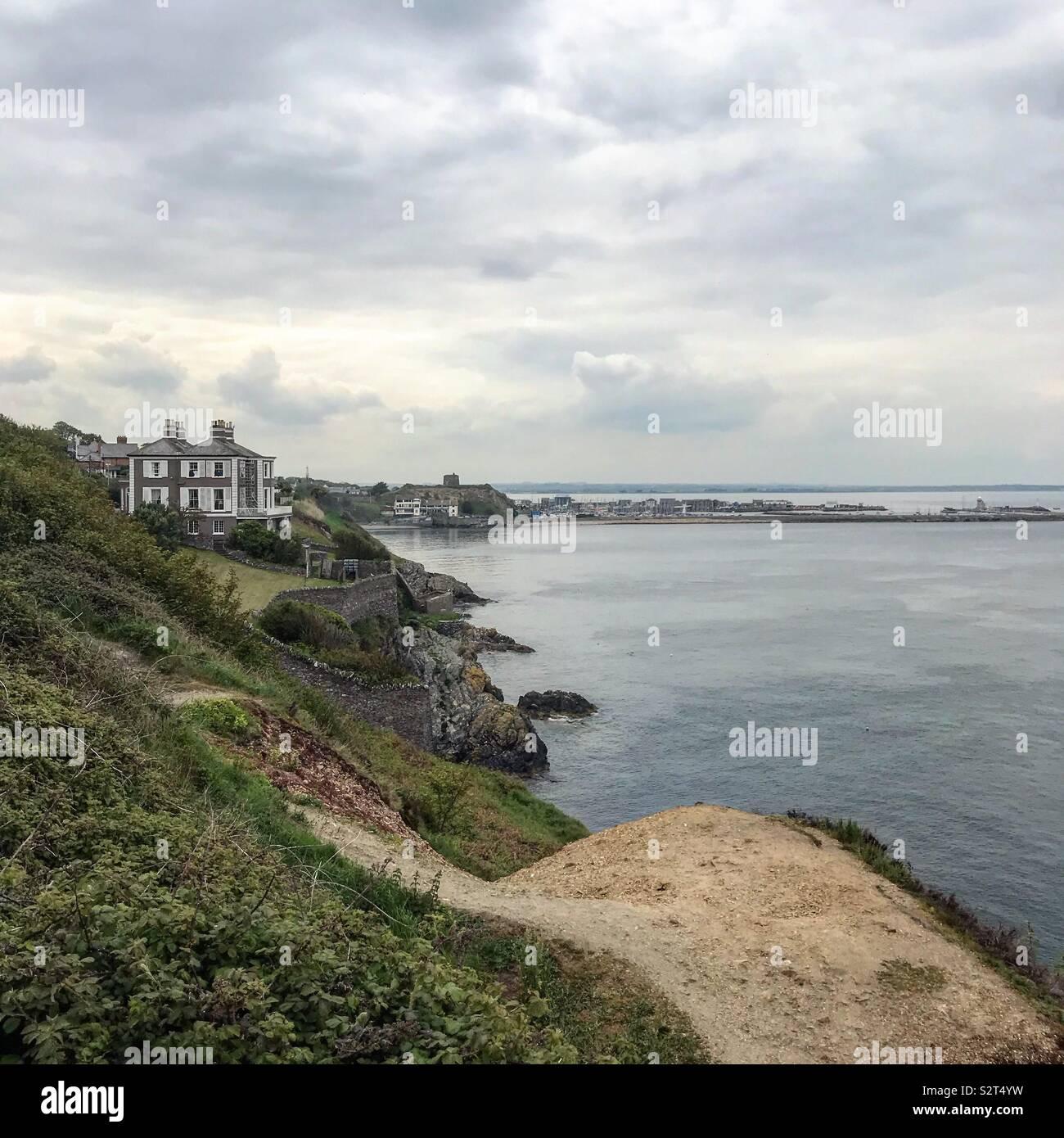 Irish Coast near Howth Stock Photo