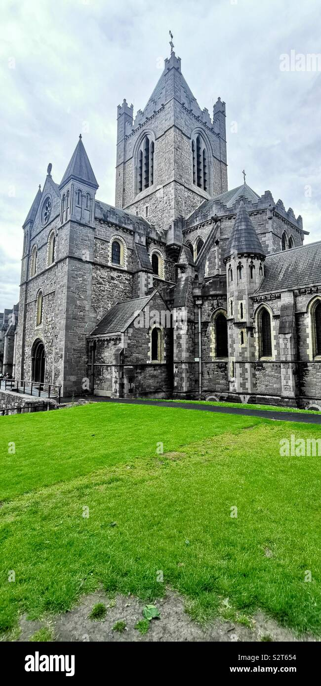 The Christ Church Cathedral in Dublin. - Stock Image