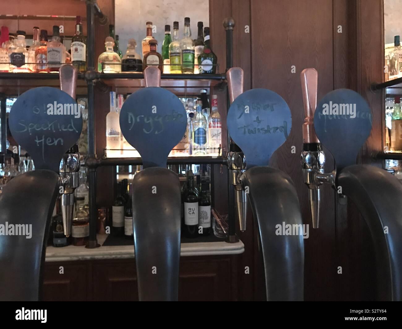 beer tap handle old western six shooter heineken