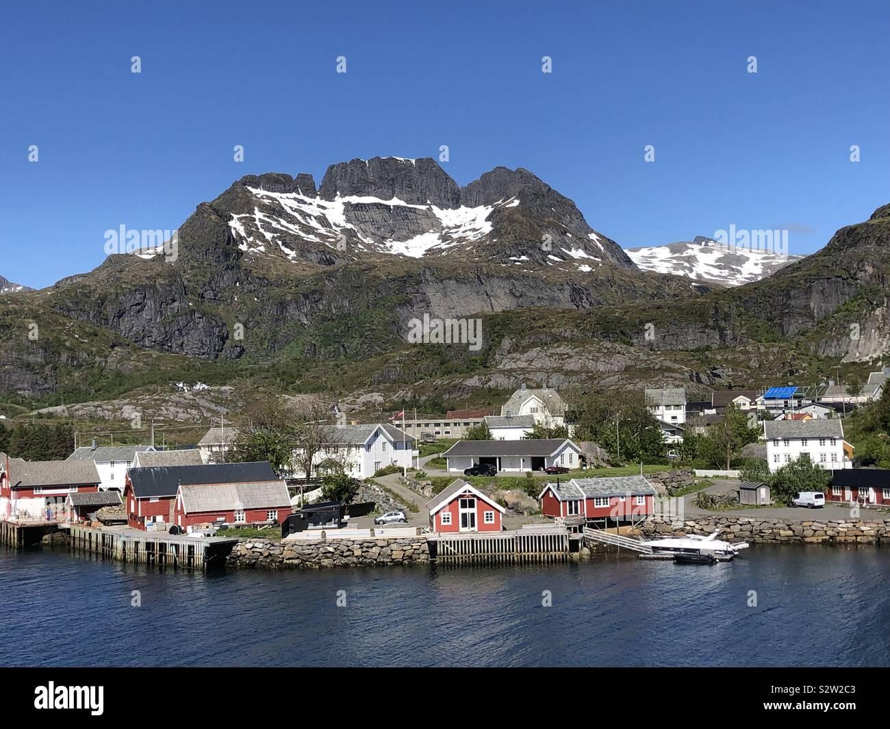 Lofoten Islands fishing village, Norway Stock Photo