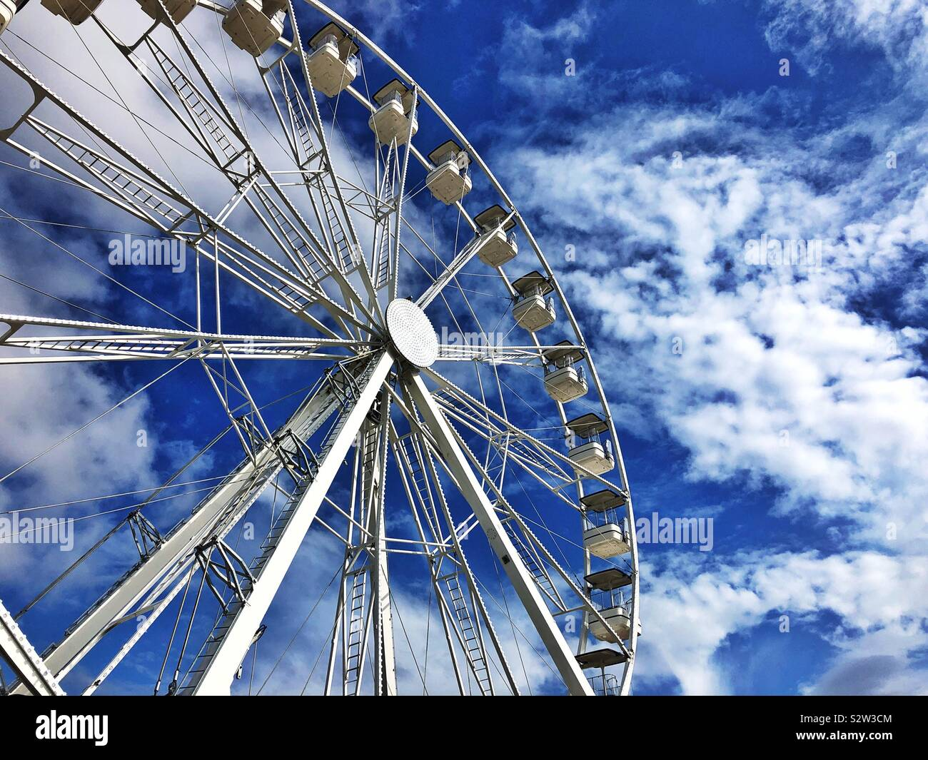 Big Wheel fairground ride at Barry Island Pleasure Park, South Wales, August 2019. Stock Photo