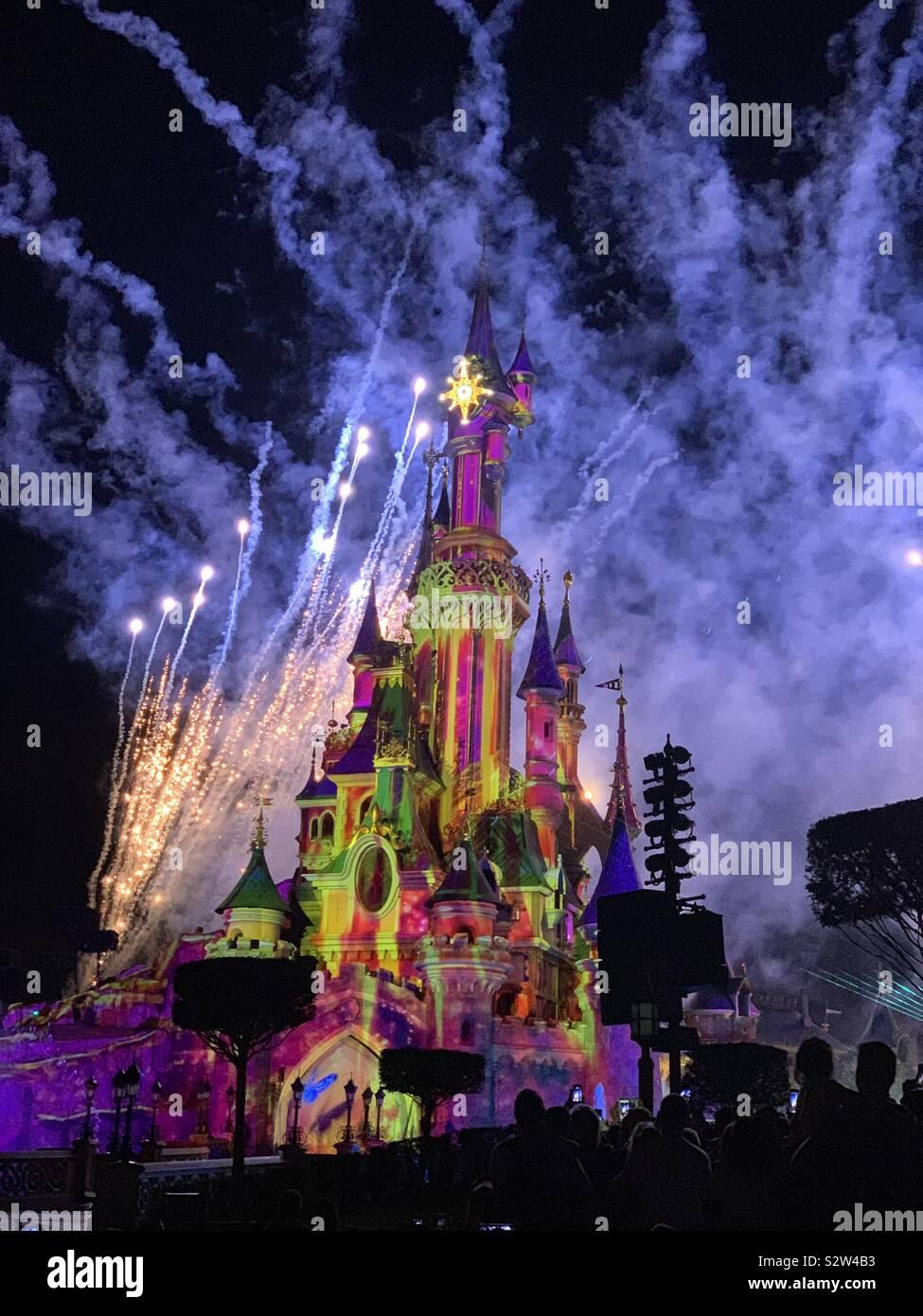 Disneyland Paris illuminations Stock Photo