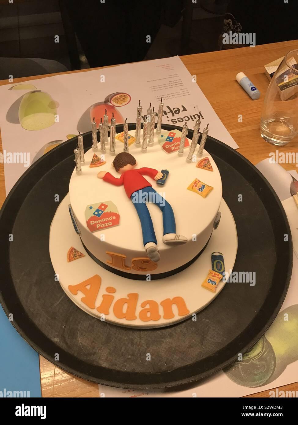 Superb 18Th Birthday Cake Stock Photos 18Th Birthday Cake Stock Images Birthday Cards Printable Nowaargucafe Filternl