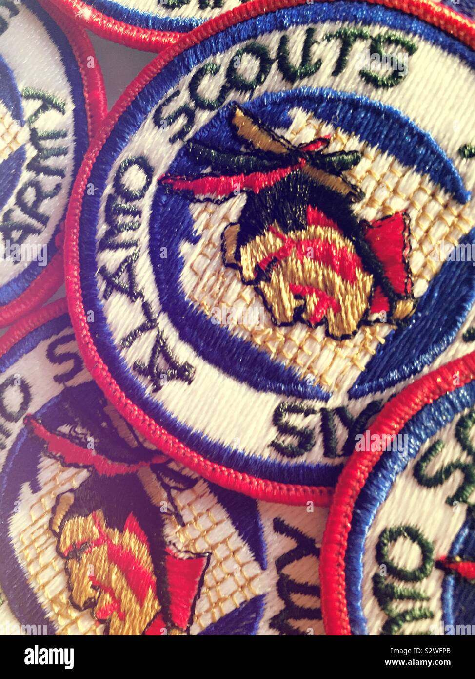 Security Guard Embroidered Officer Shoulder Patch 2 Pack American Eagle