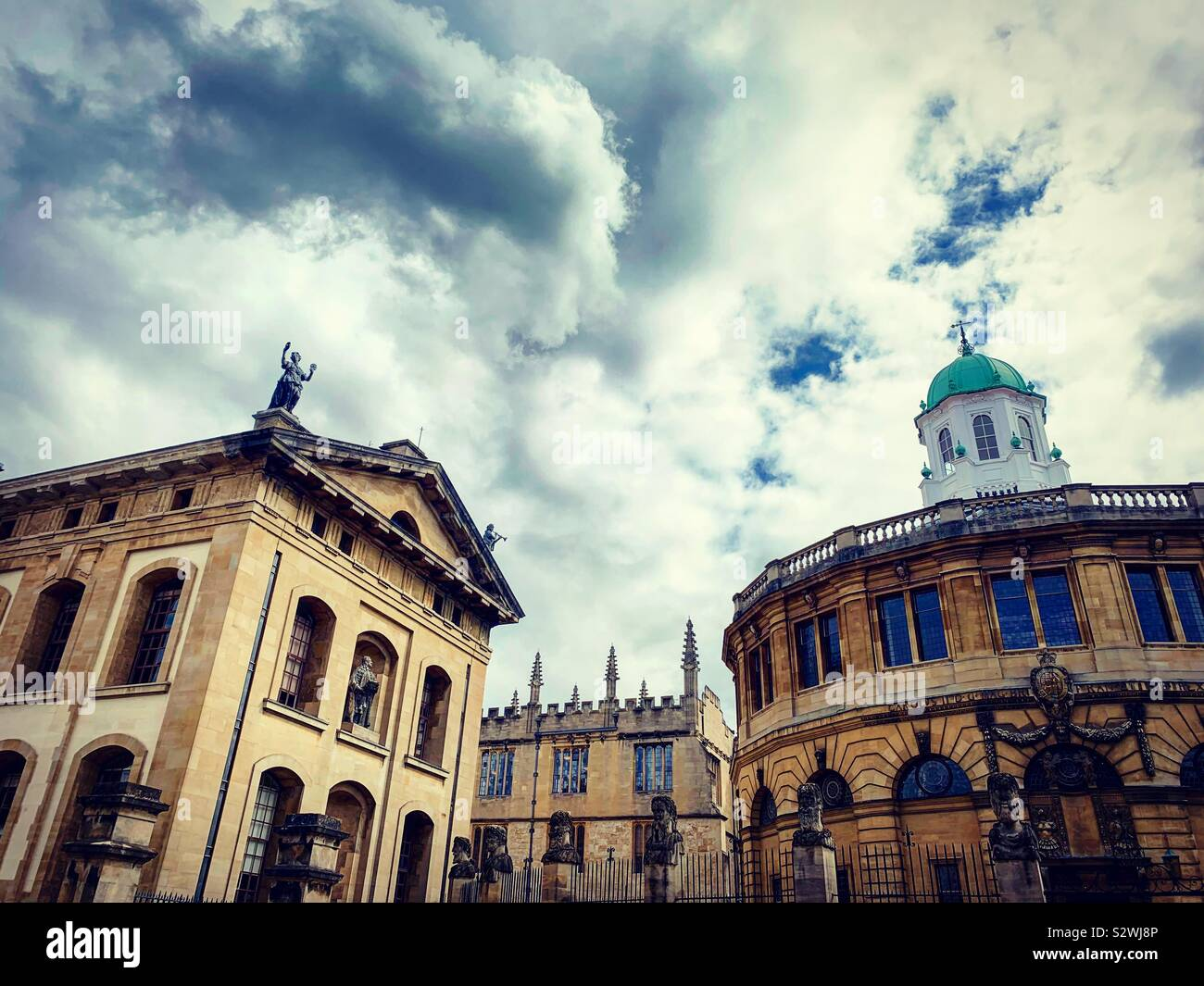 The Bodleian Library and Sheldonian Theatre, Oxford Stock Photo