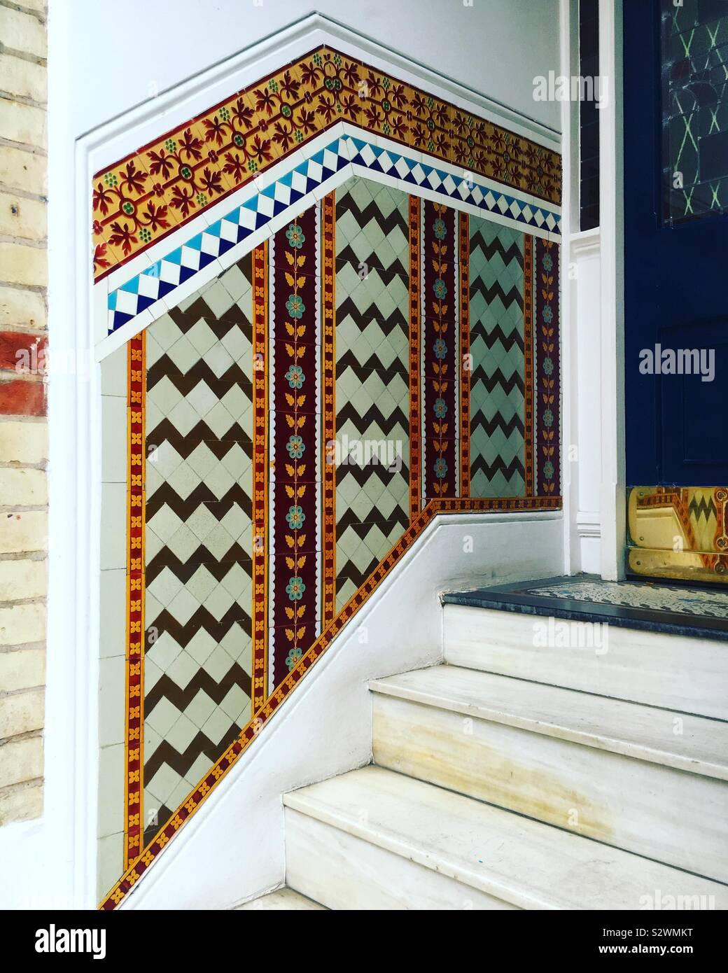 Tiles of London Stock Photo