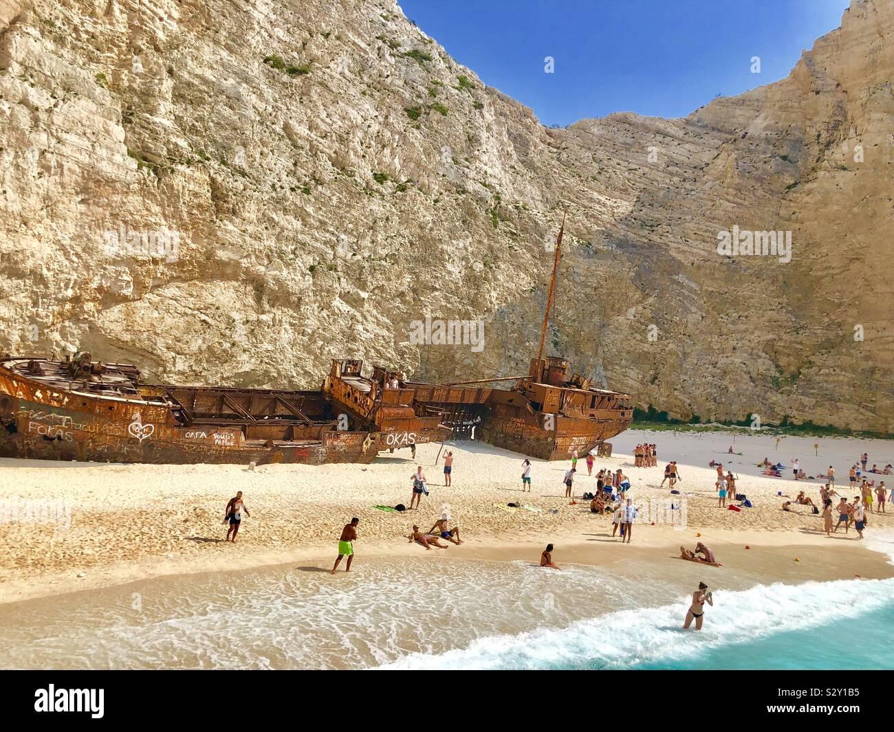 In a Greek island called Zakinthos Stock Photo