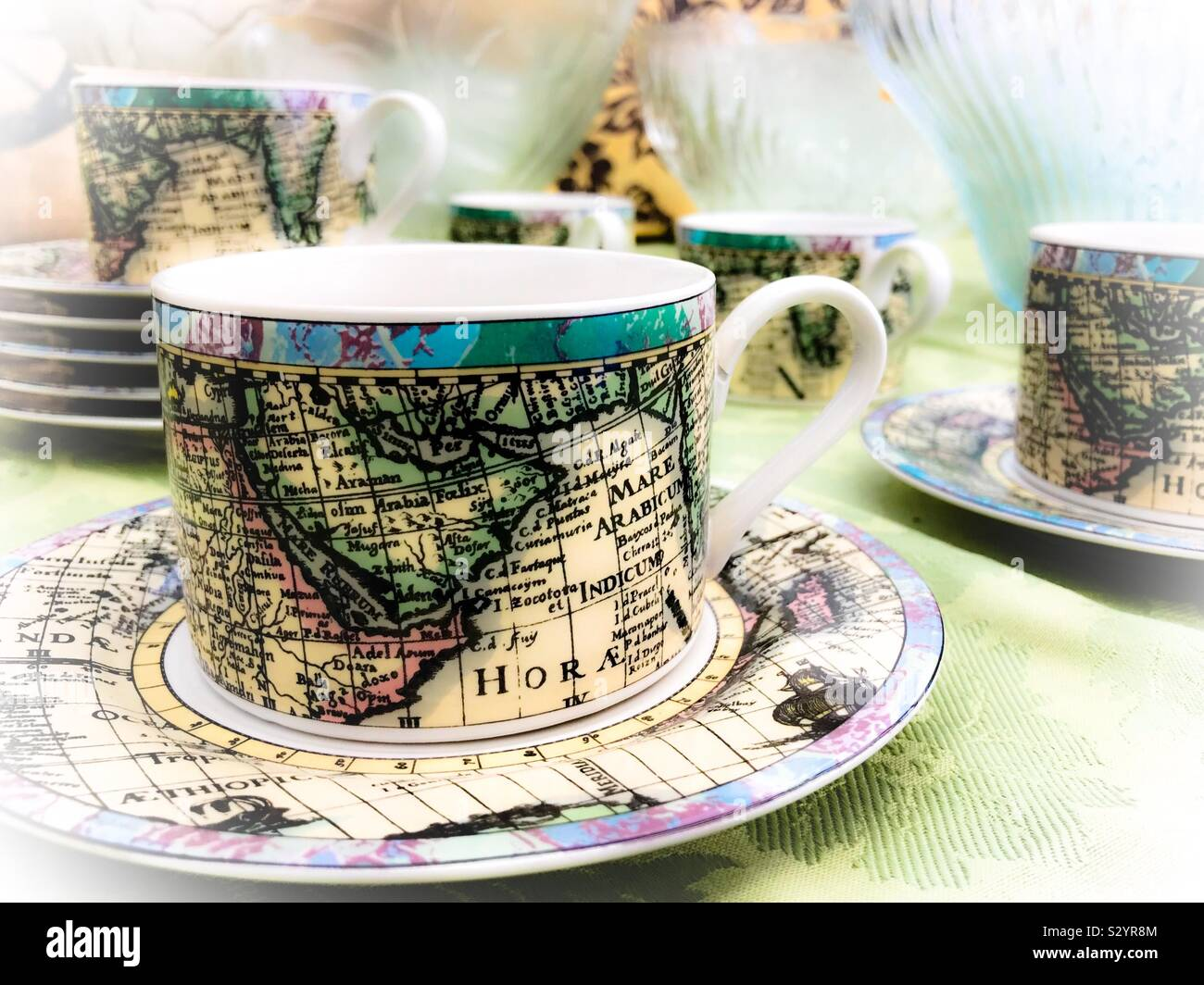 Tea Set Display High Resolution Stock Photography And Images Alamy